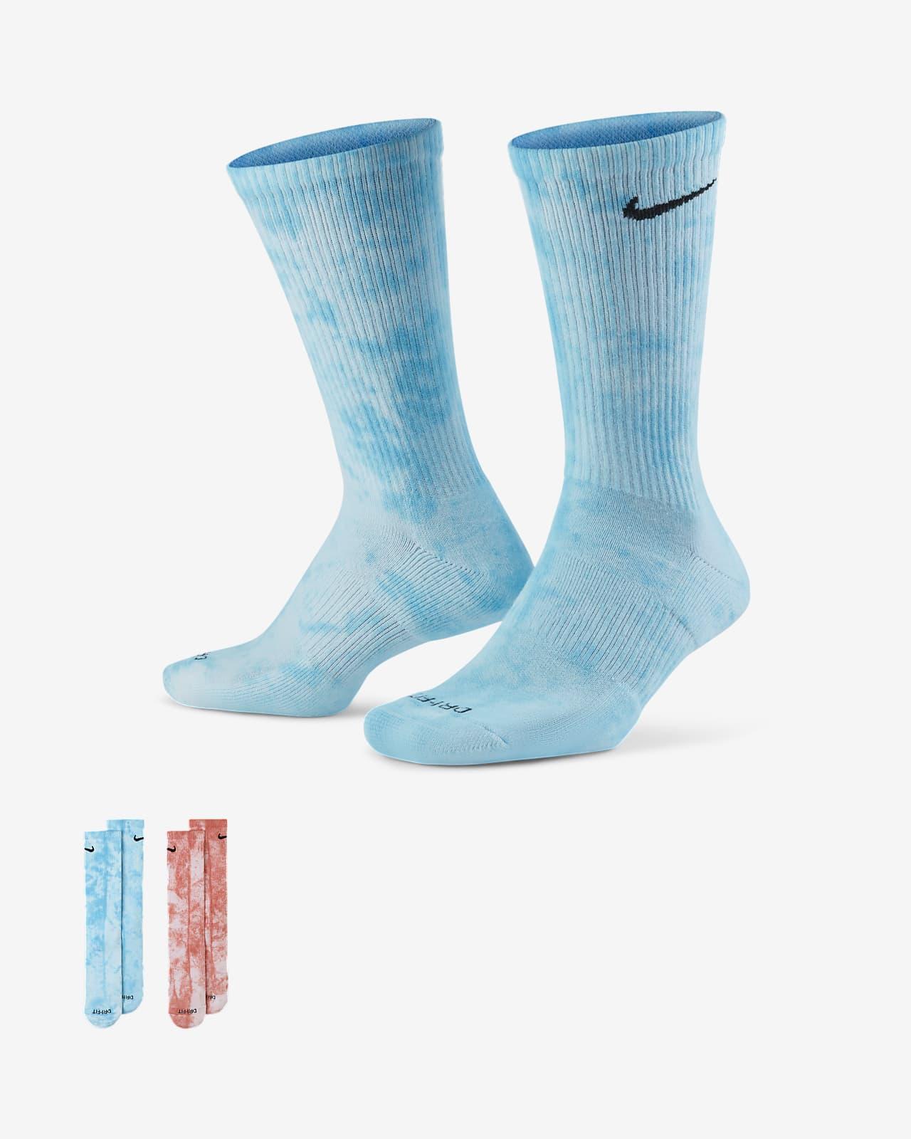 Calcetines largos de teñido batik Nike Everyday Plus Cushioned (2 pares)