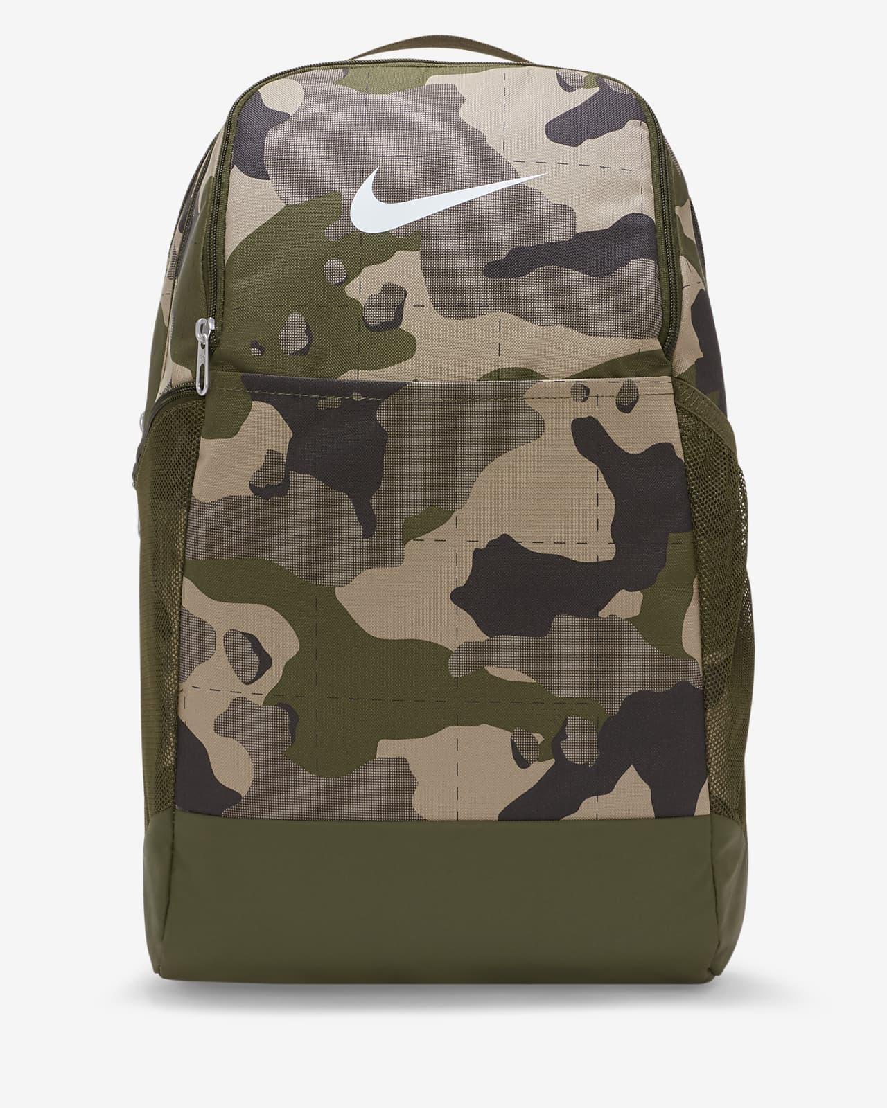 Mochila de treino com padrão camuflado Nike Brasilia (média)