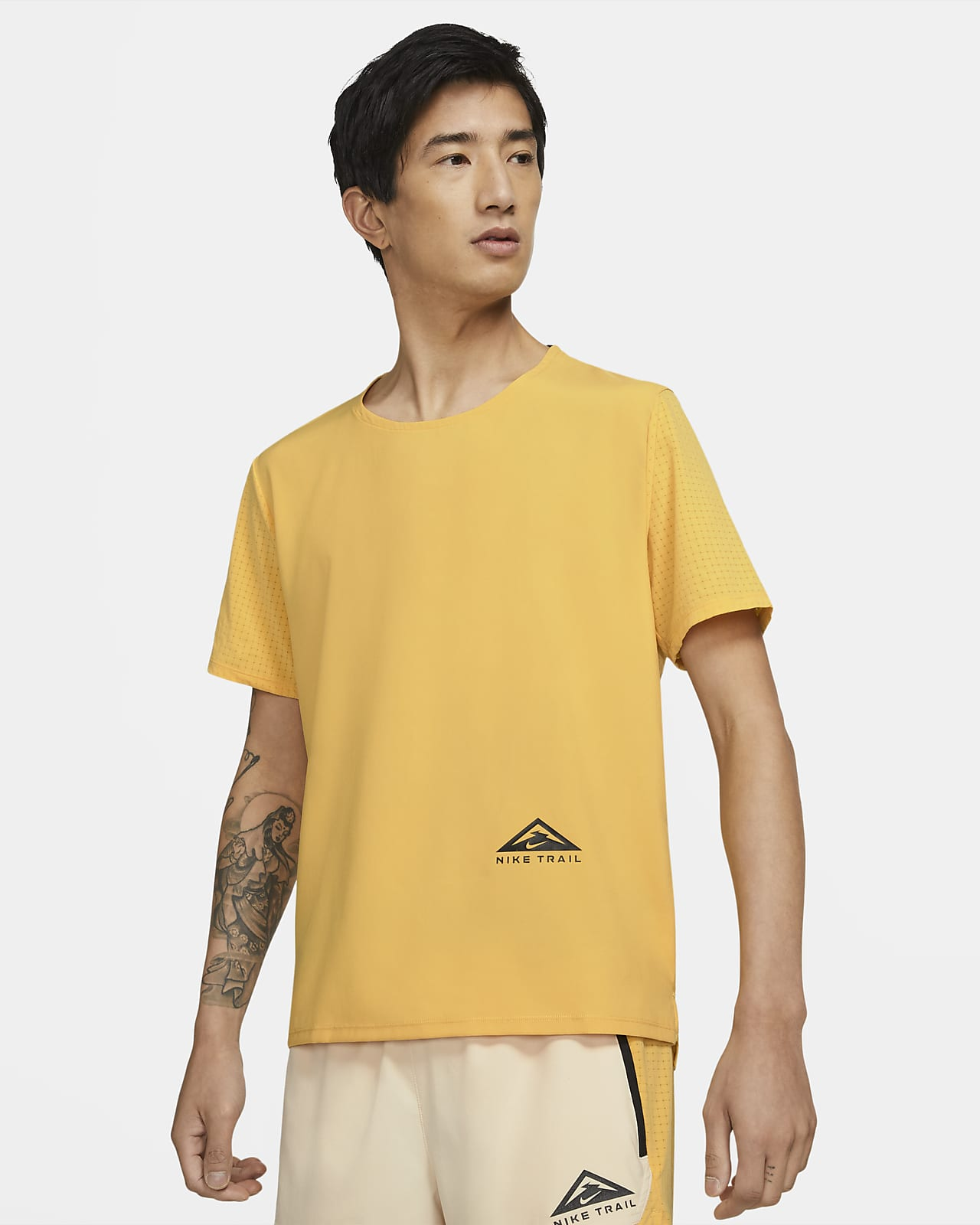 เสื้อวิ่งเทรลแขนสั้น Nike Dri-FIT Rise 365