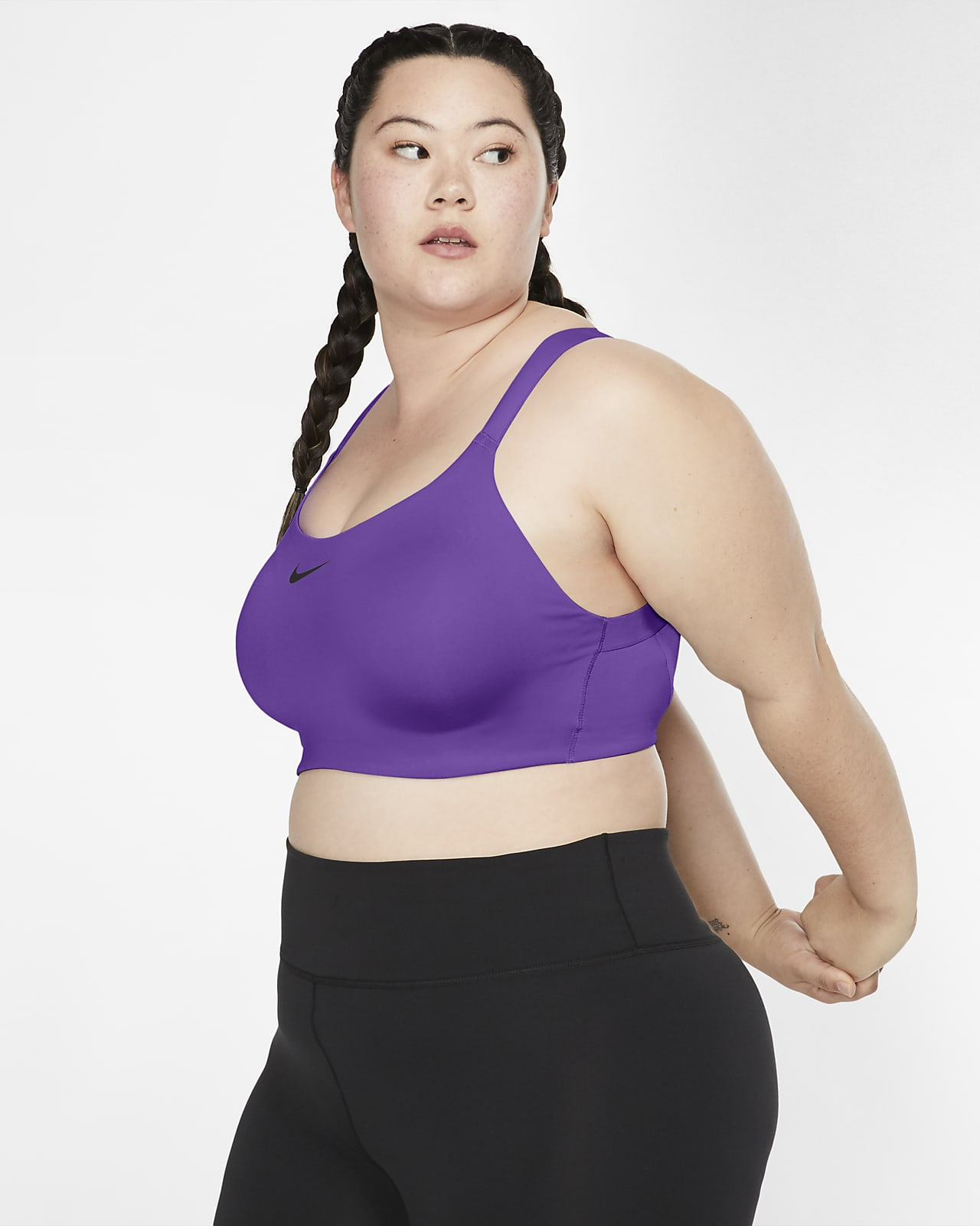 Bra deportivo Underwire con almohadillas de alta sujeción para mujer Nike Bold (talla grande)