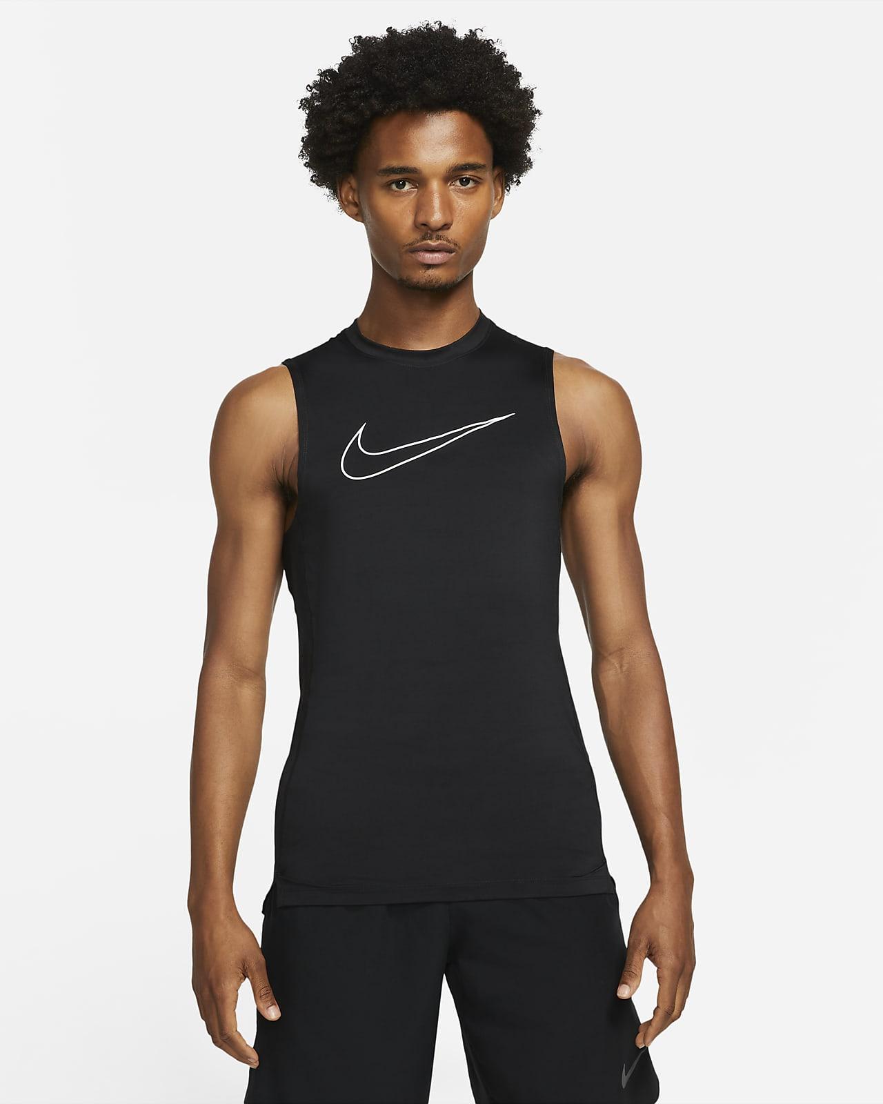 Ανδρική αμάνικη μπλούζα με στενή εφαρμογή Nike Pro Dri-FIT