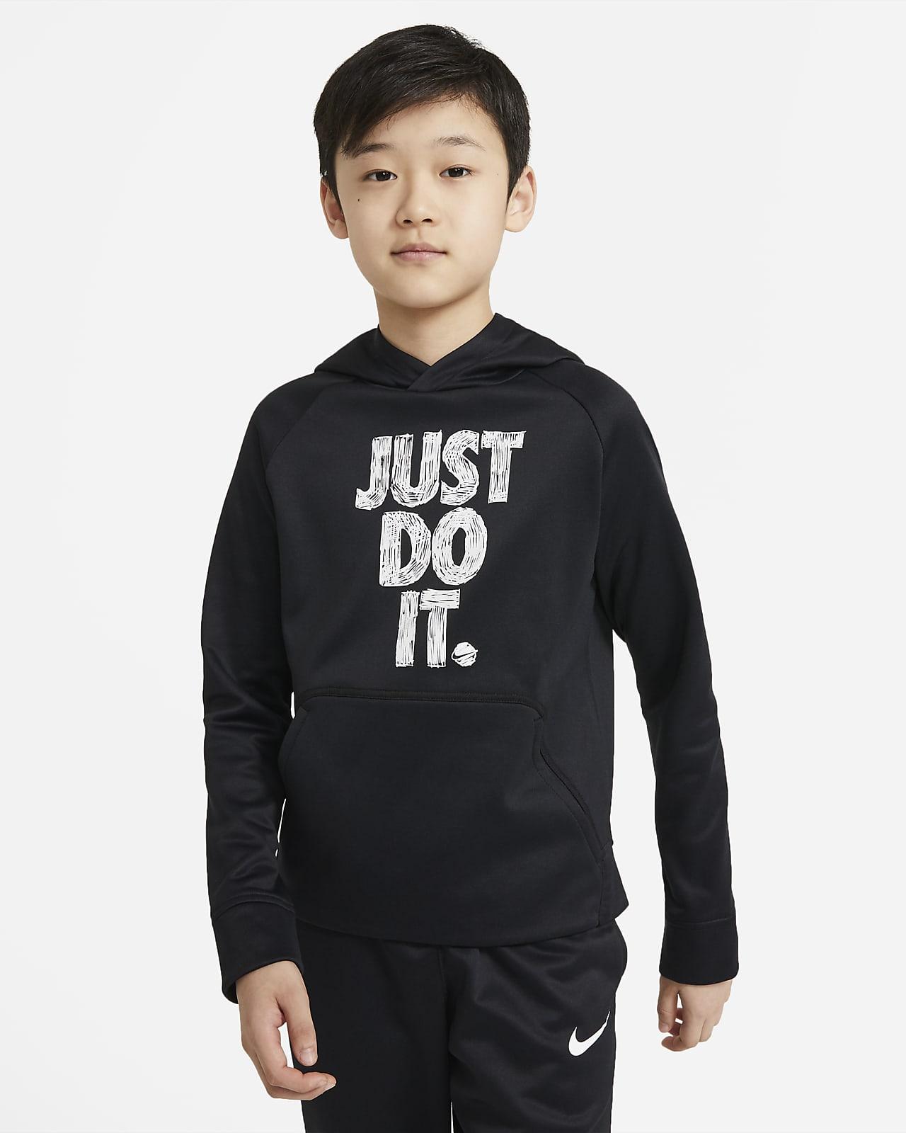 Nike Therma Big Kids' (Boys') Graphic Pullover Training Hoodie