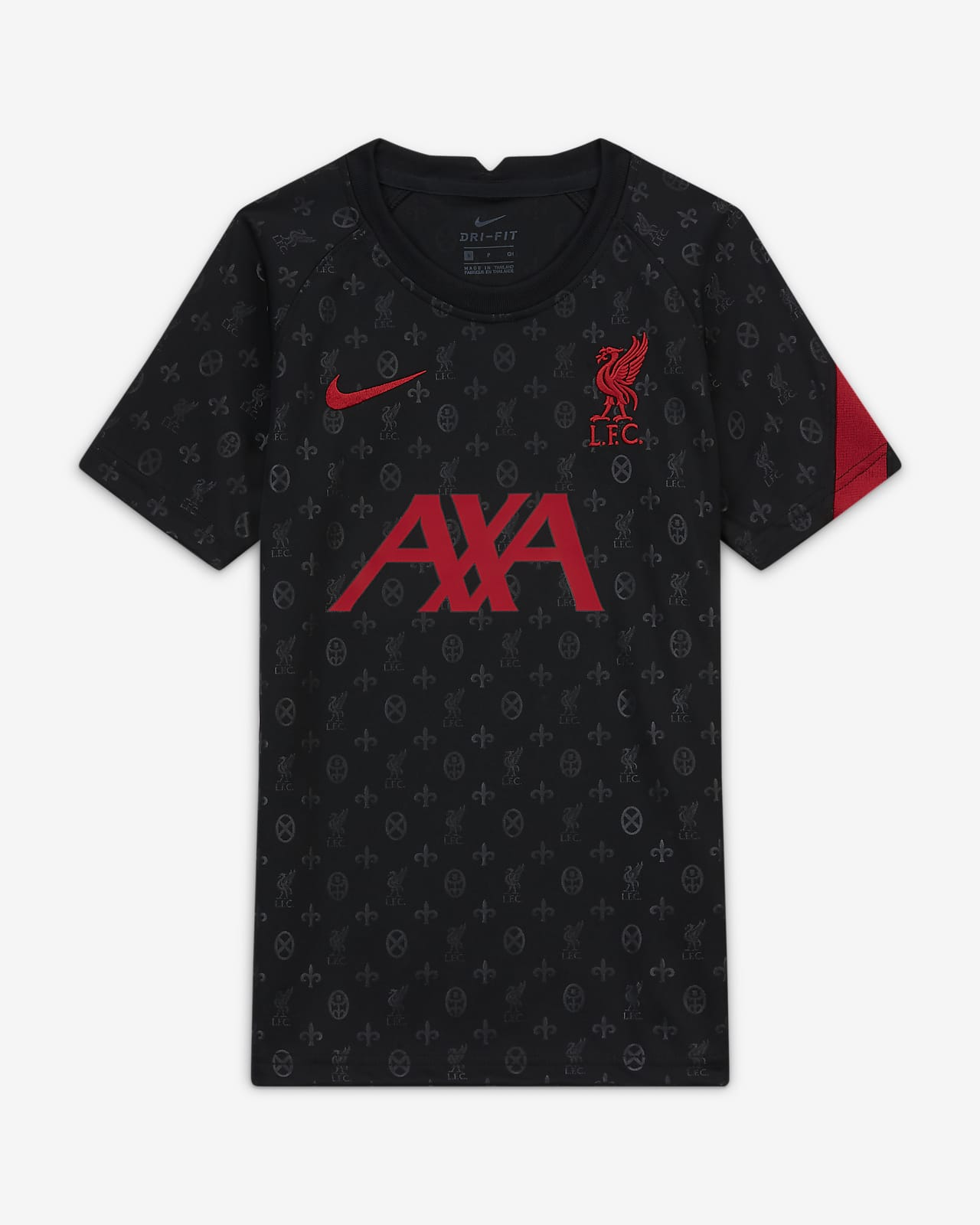 Haut de football d'avant-match à manches courtes Liverpool FC pour Enfant plus âgé