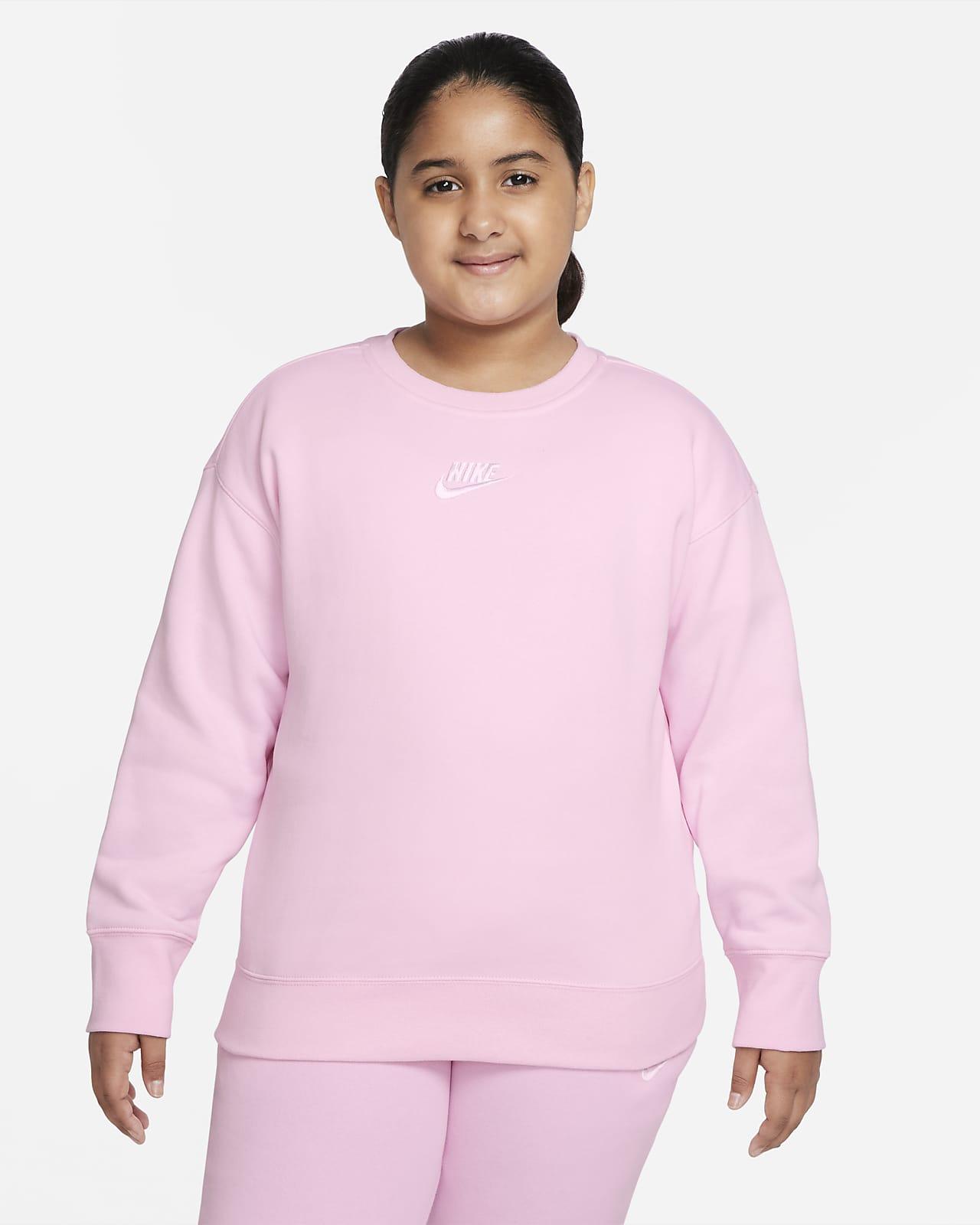 Sudadera de cuello redondo para niña talla grande (talla extendida) Nike Sportswear Club Fleece