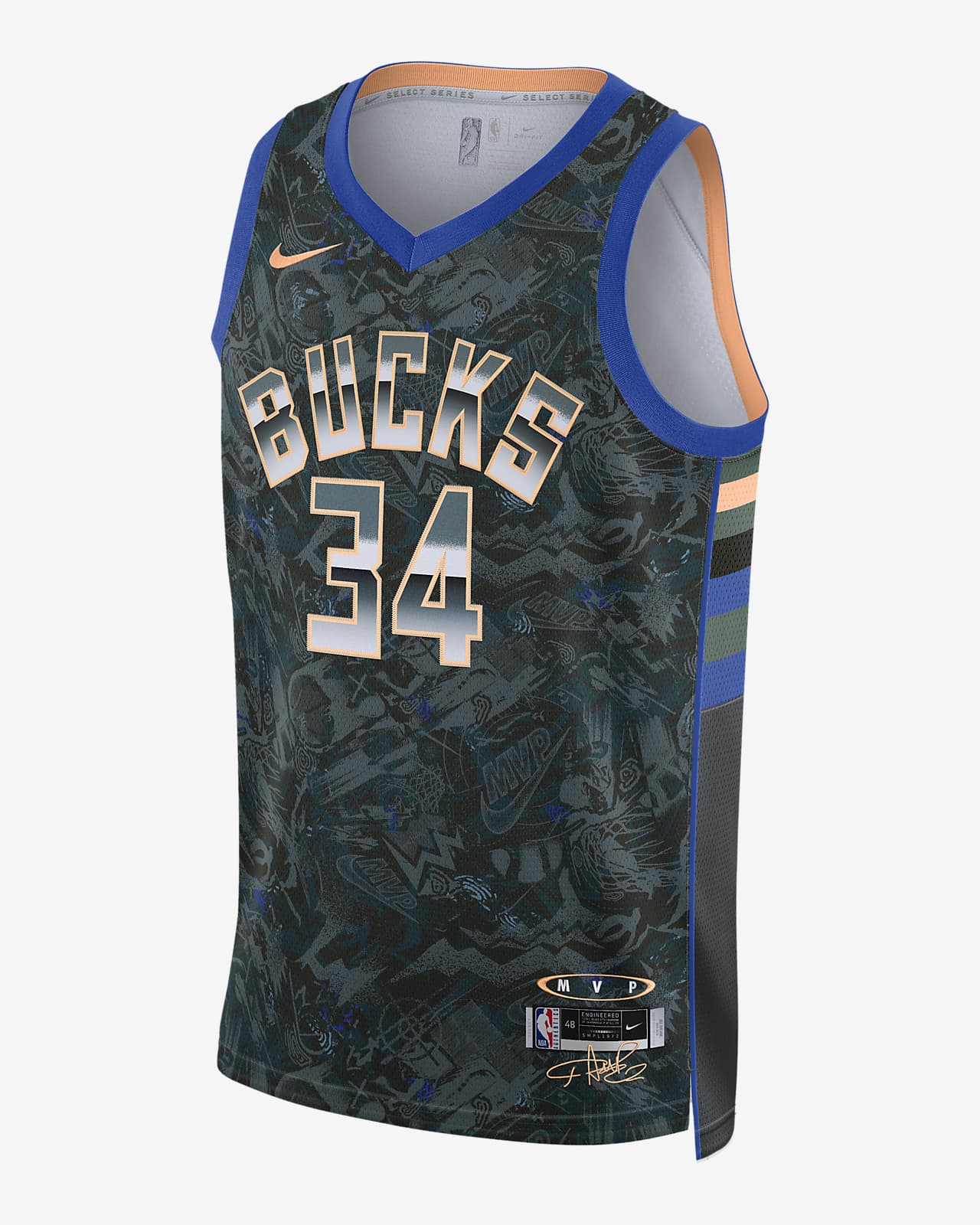 Джерси Nike НБА Giannis Antetokounmpo Select Series