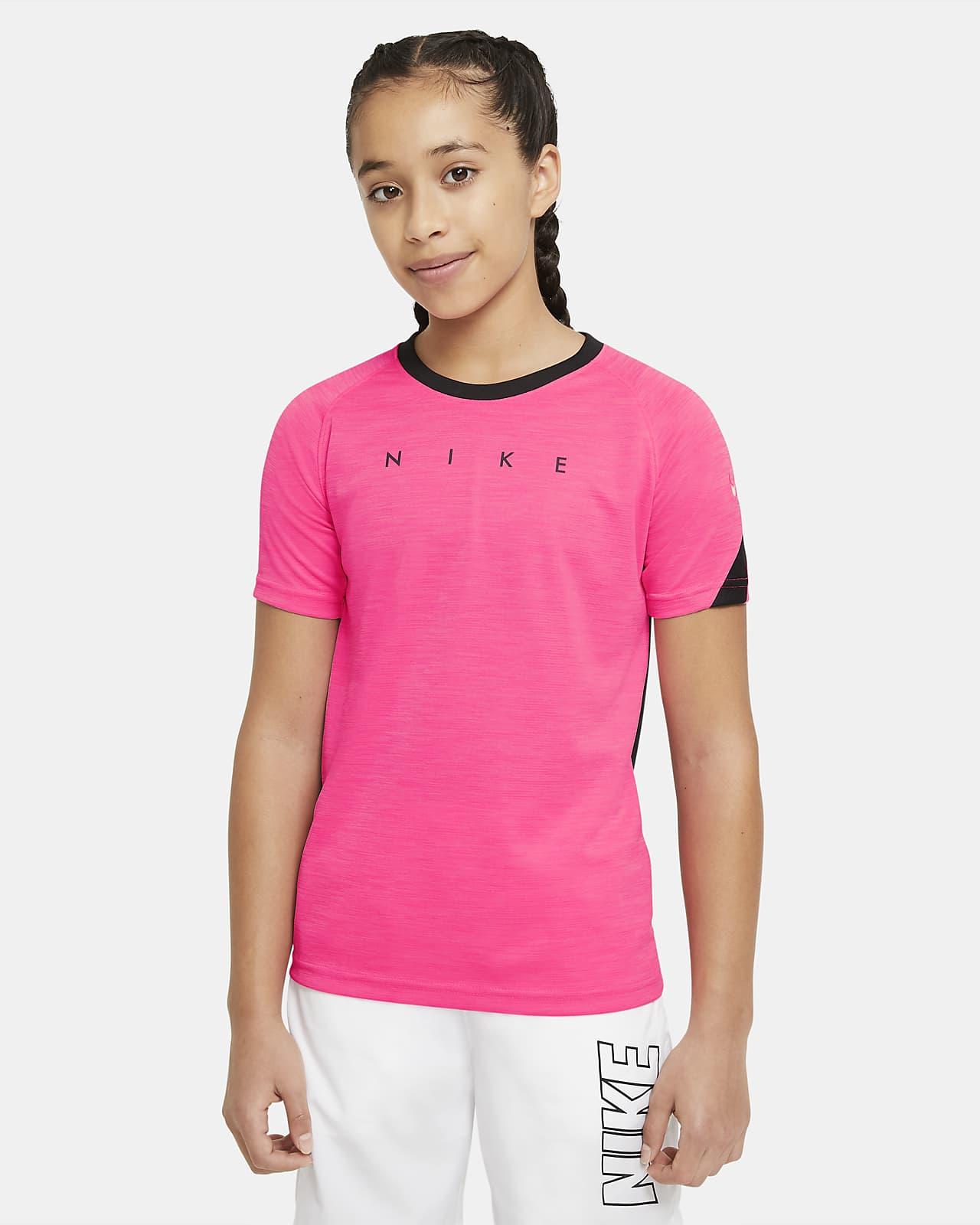 เสื้อฟุตบอลแขนสั้นเด็กโตมีกราฟิก Nike Dri-FIT Academy