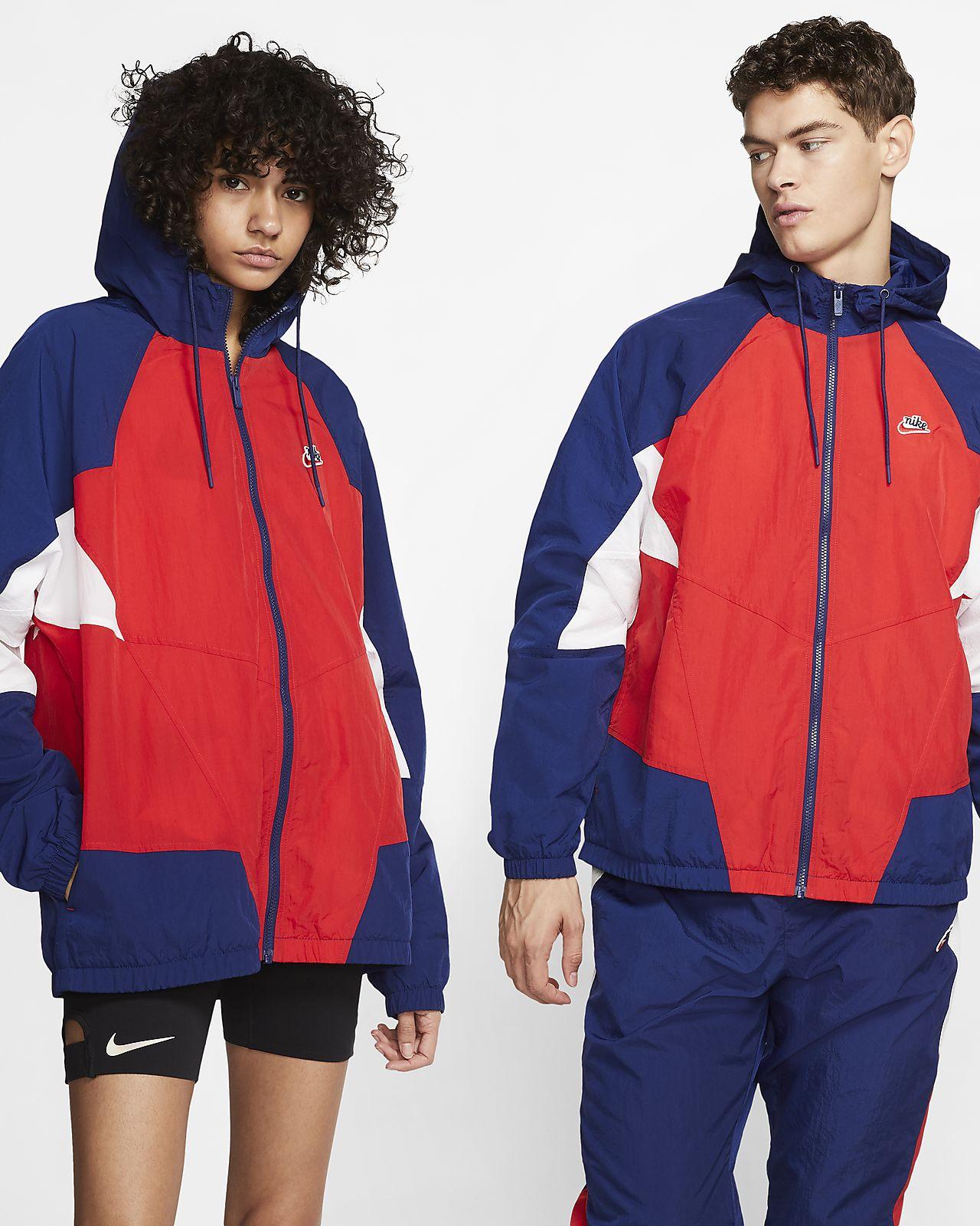 เสื้อแจ็คเก็ตผู้ชายแบบทอ Nike Sportswear Heritage Windrunner