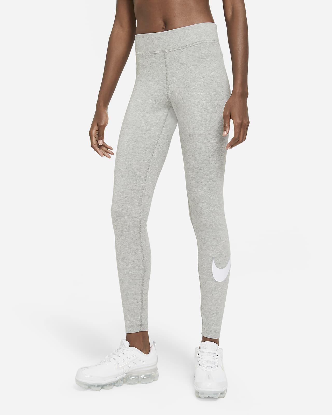 Damskie legginsy ze średnim stanem i logo Swoosh Nike Sportswear Essential