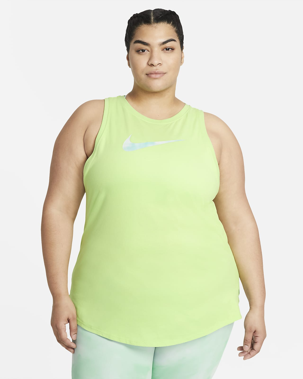 Camiseta de tirantes de entrenamiento Icon Clash para mujer talla grande Nike Dri-FIT