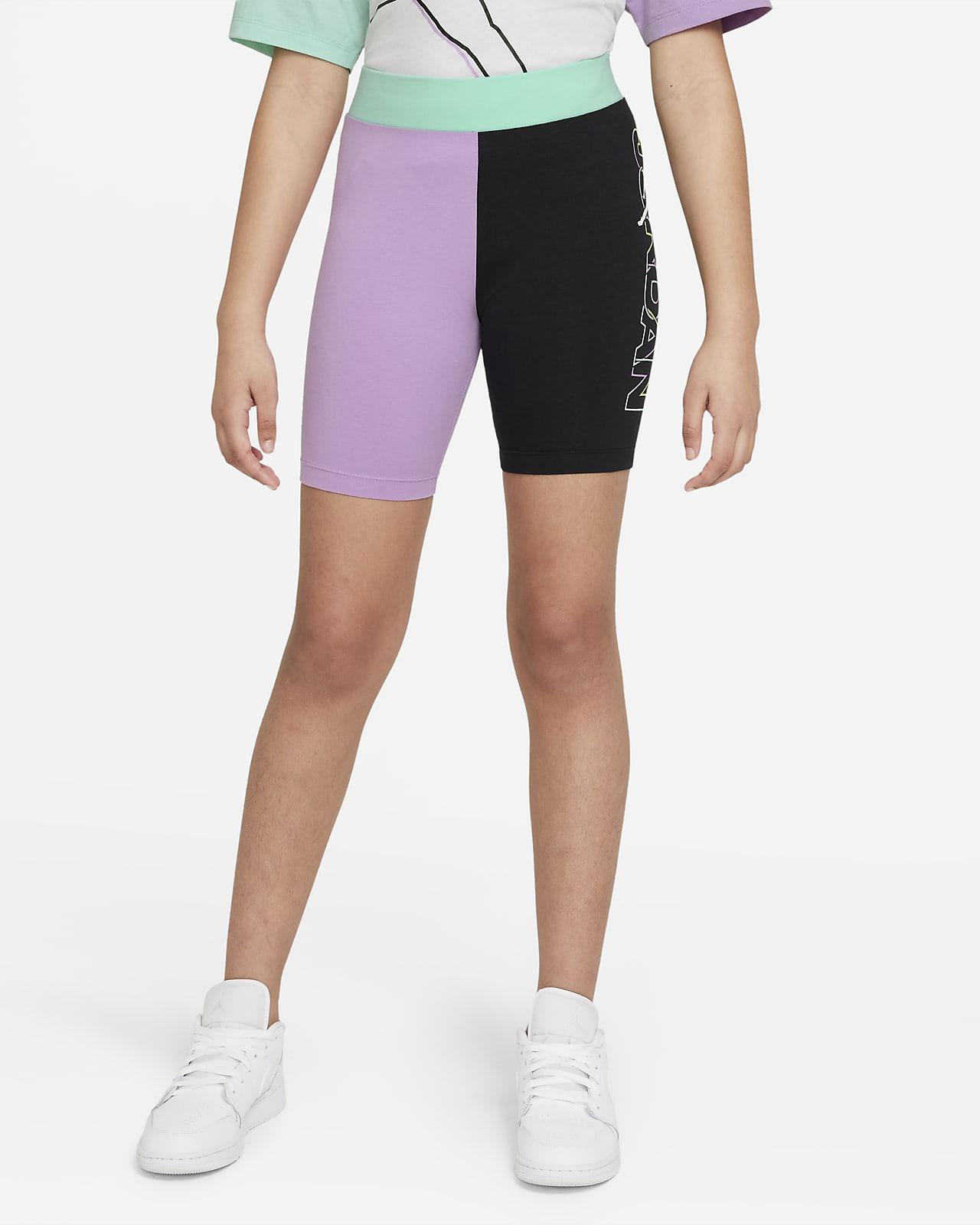 Shorts de ciclismo Jordan de cintura alta para niñas talla grande