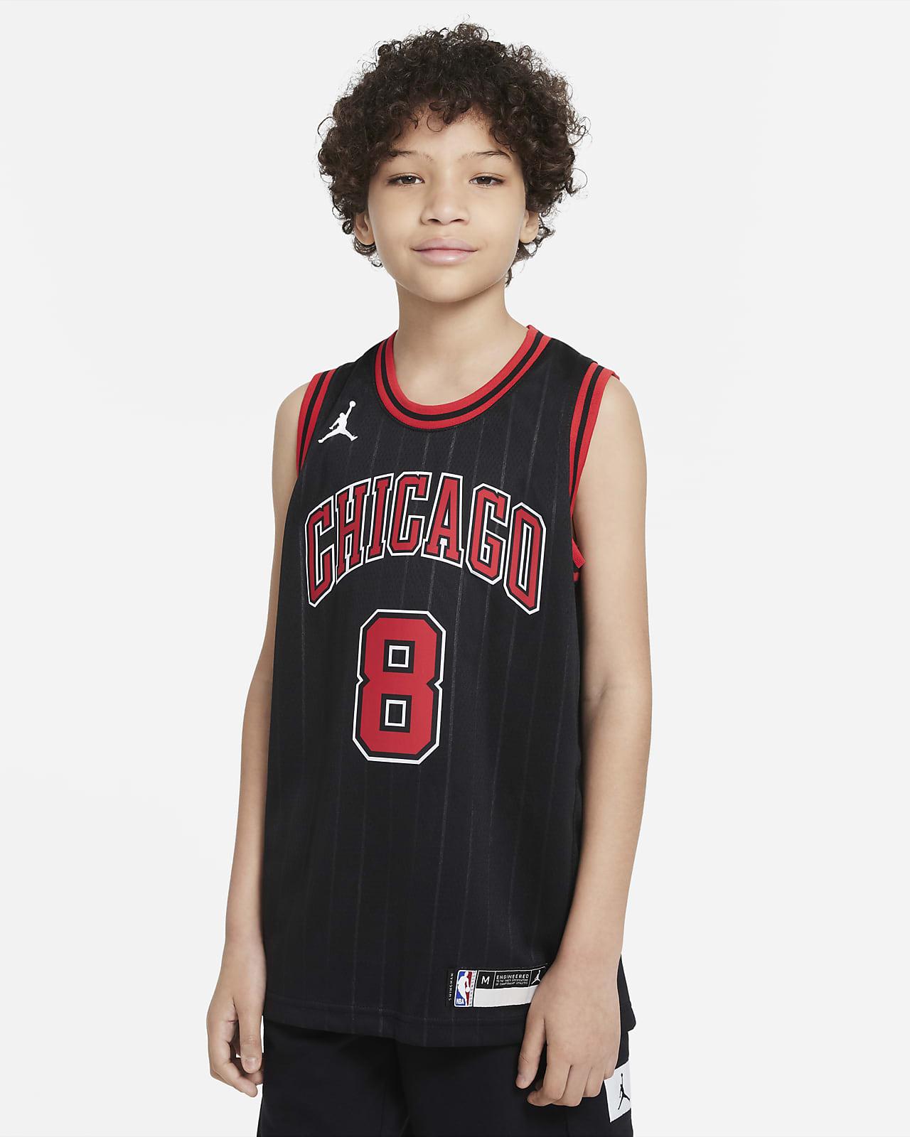 Koszulka dla dużych dzieci Zach LaVine Bulls Statement Edition Jordan NBA Swingman