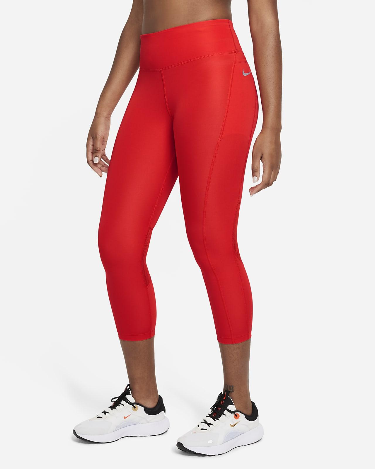 Leggings de running cortos de tiro medio para mujer Nike Fast