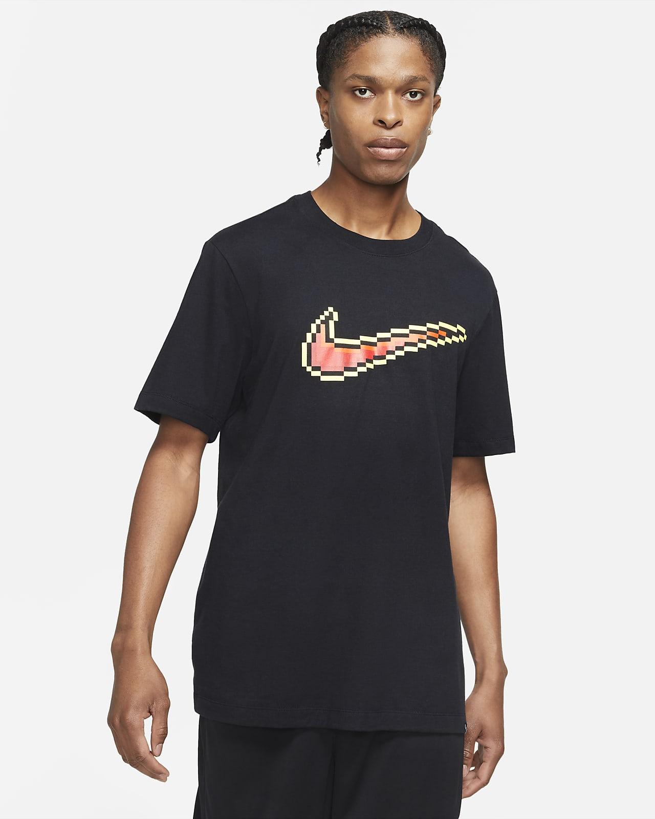 Playera de básquetbol de manga corta para hombre Nike Swoosh