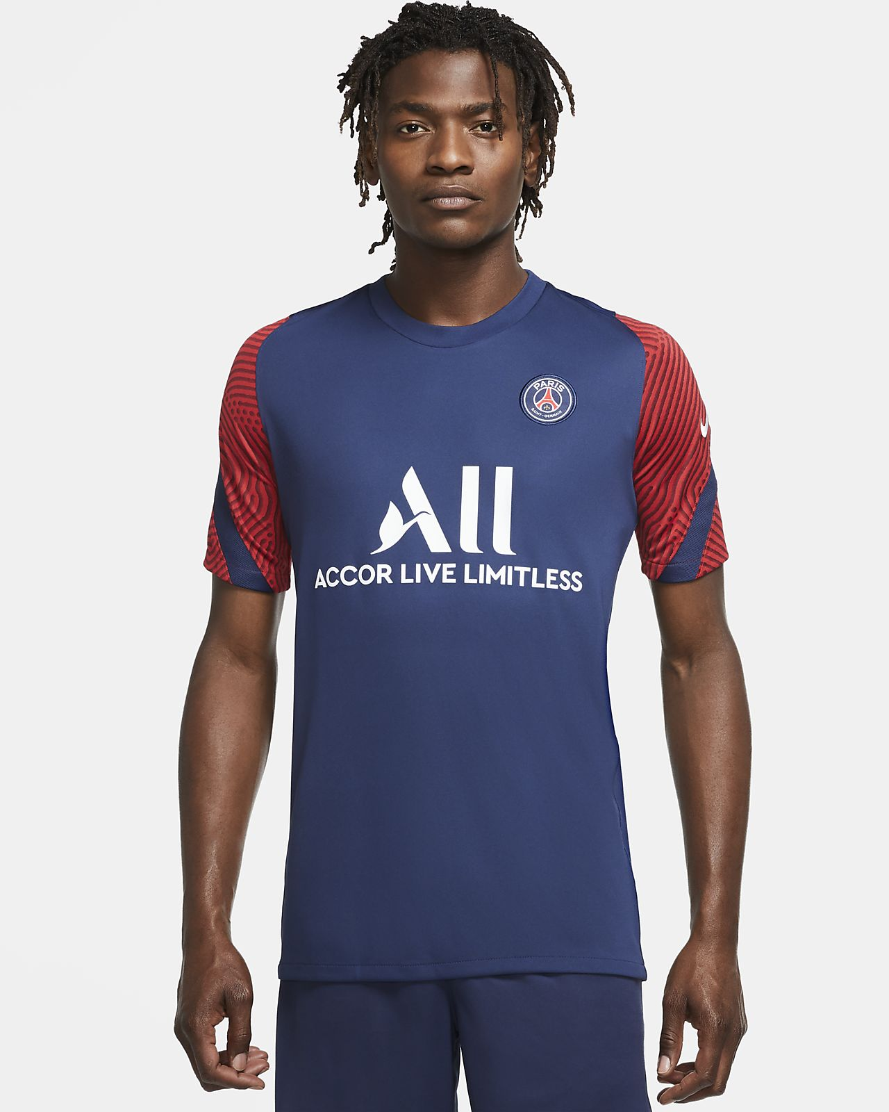 Camiseta de fútbol de manga corta para hombre Paris Saint-Germain Strike