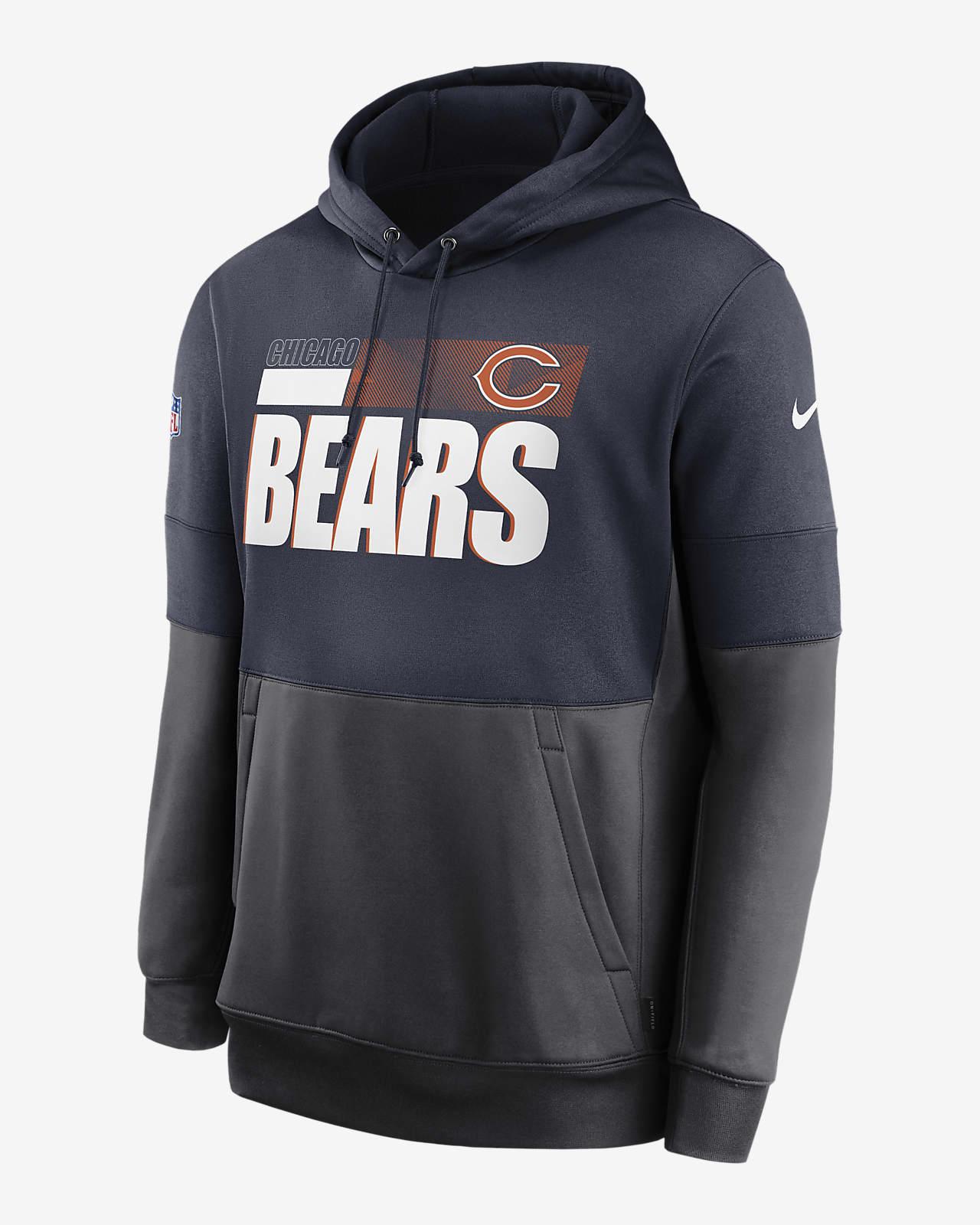 Nike Therma Team Name Lockup (NFL Chicago Bears) Men's Pullover Hoodie