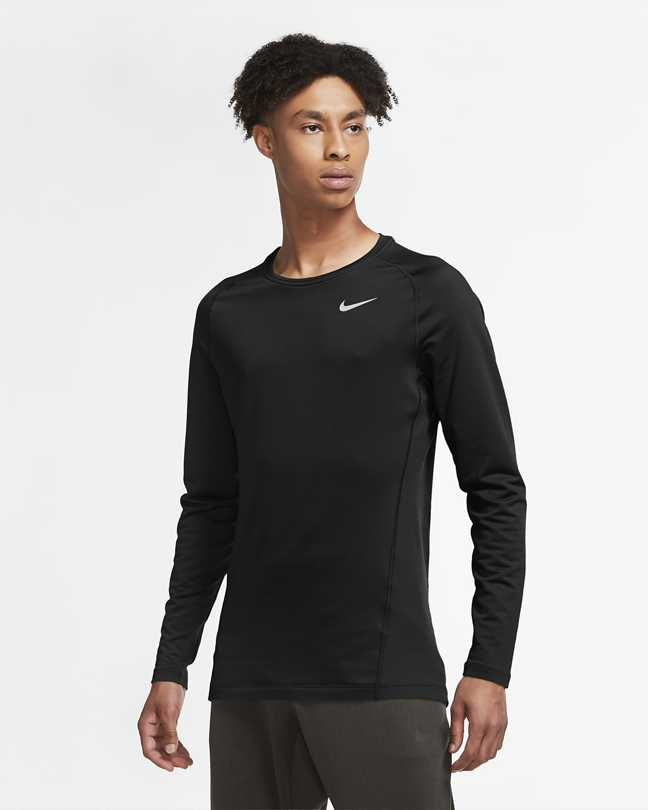 Nike Pro Warm Herentop met lange mouwen