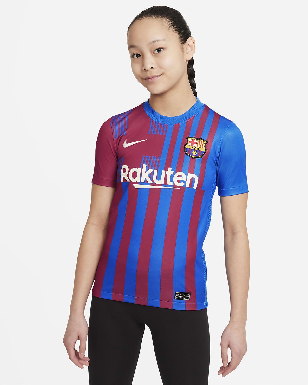 เสื้อแข่งฟุตบอลเด็กโต FC Barcelona 2021/22 Stadium Home