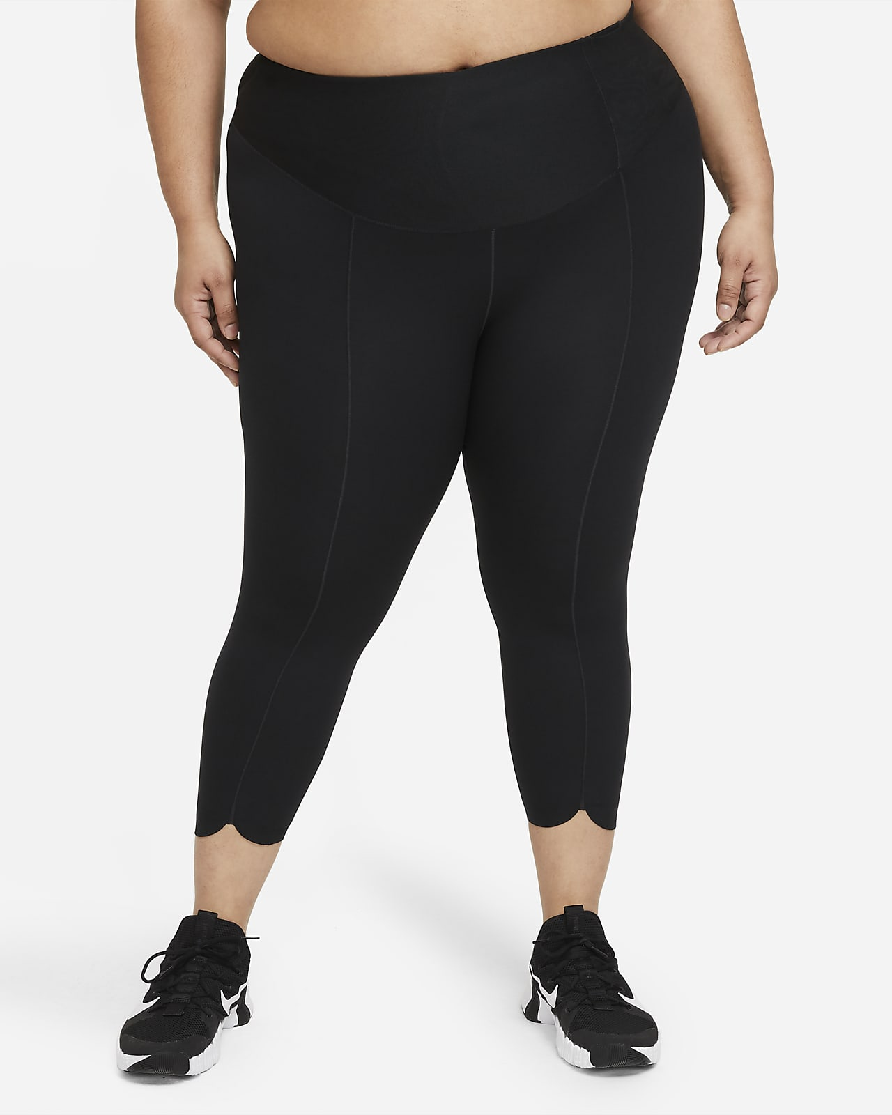 Nike One Luxe Icon Clash Women's Mid-Rise Crop Leggings (Plus Size)