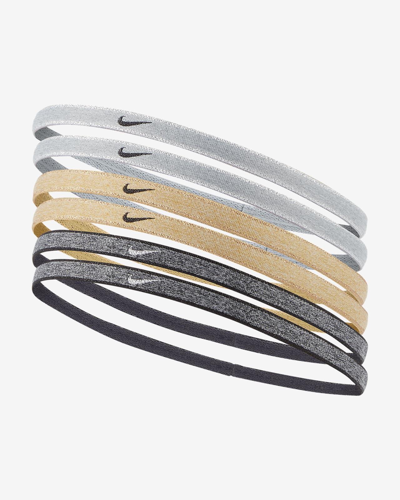 Hårband Nike Swoosh Sport i metallic (6-pack)