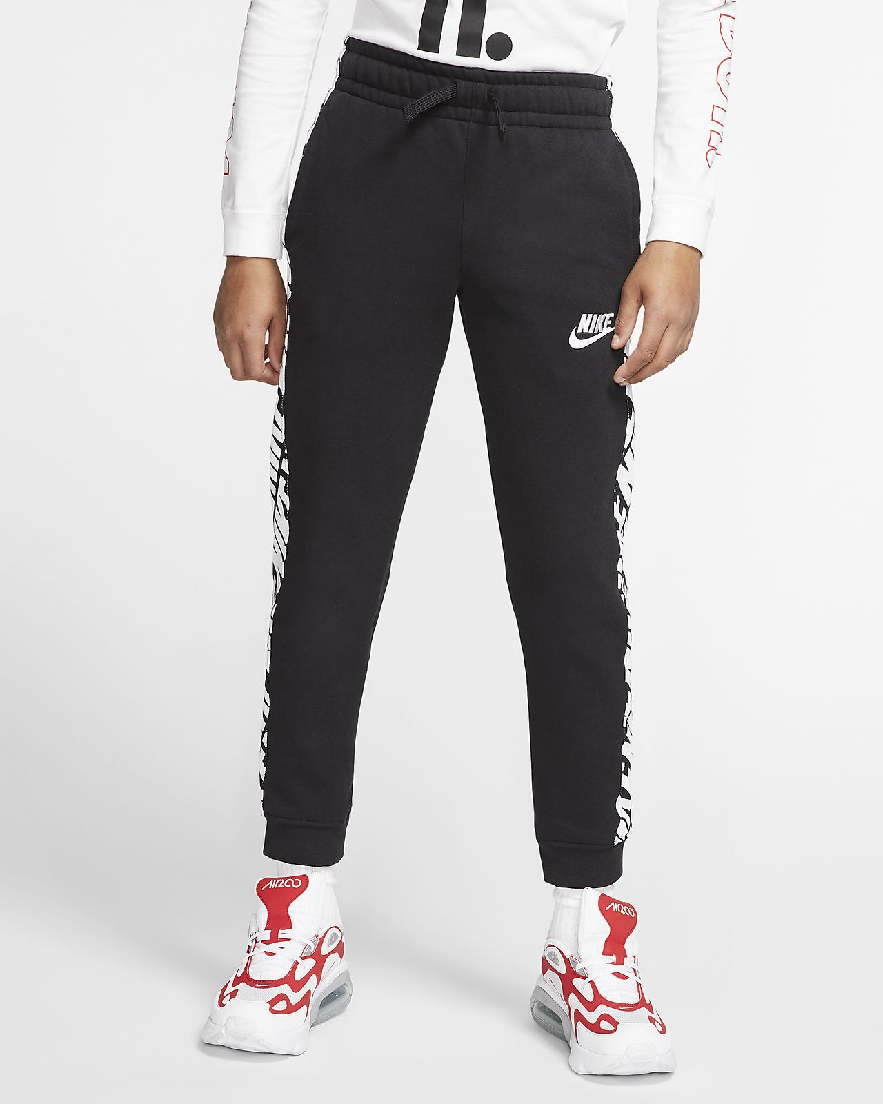 Pantalones de French Terry para niño talla grande Nike Sportswear