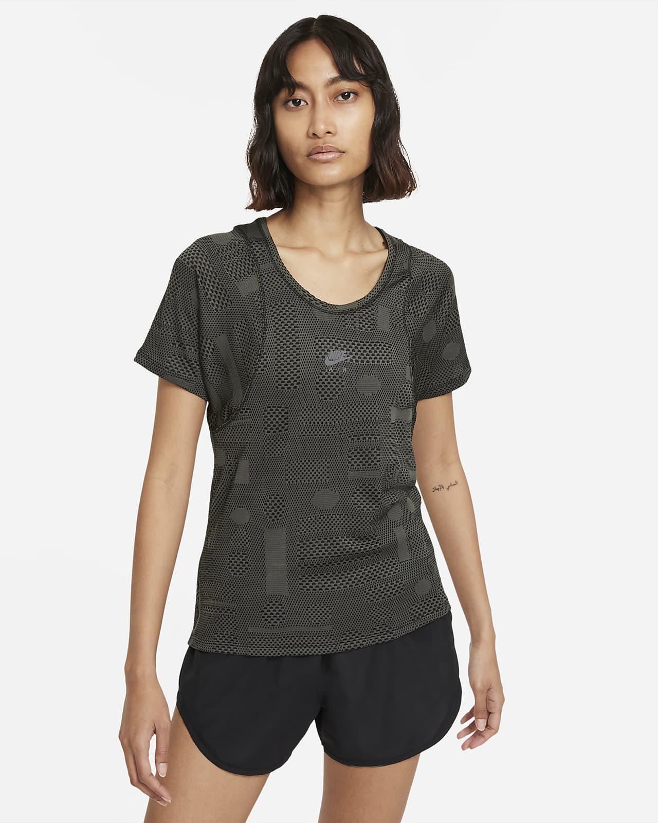 Женская беговая футболка с коротким рукавом Nike Air Dri-FIT