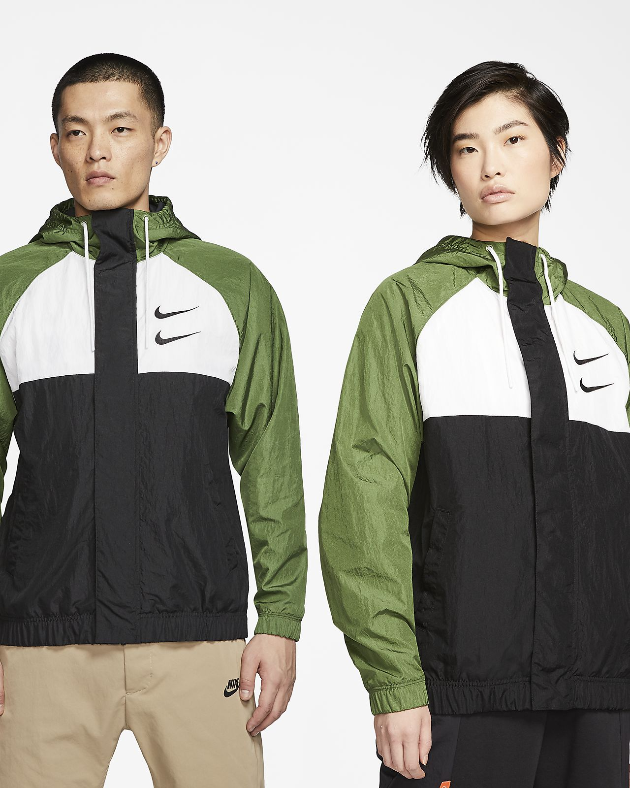 Nike Sportswear Swoosh 男款梭織連帽外套