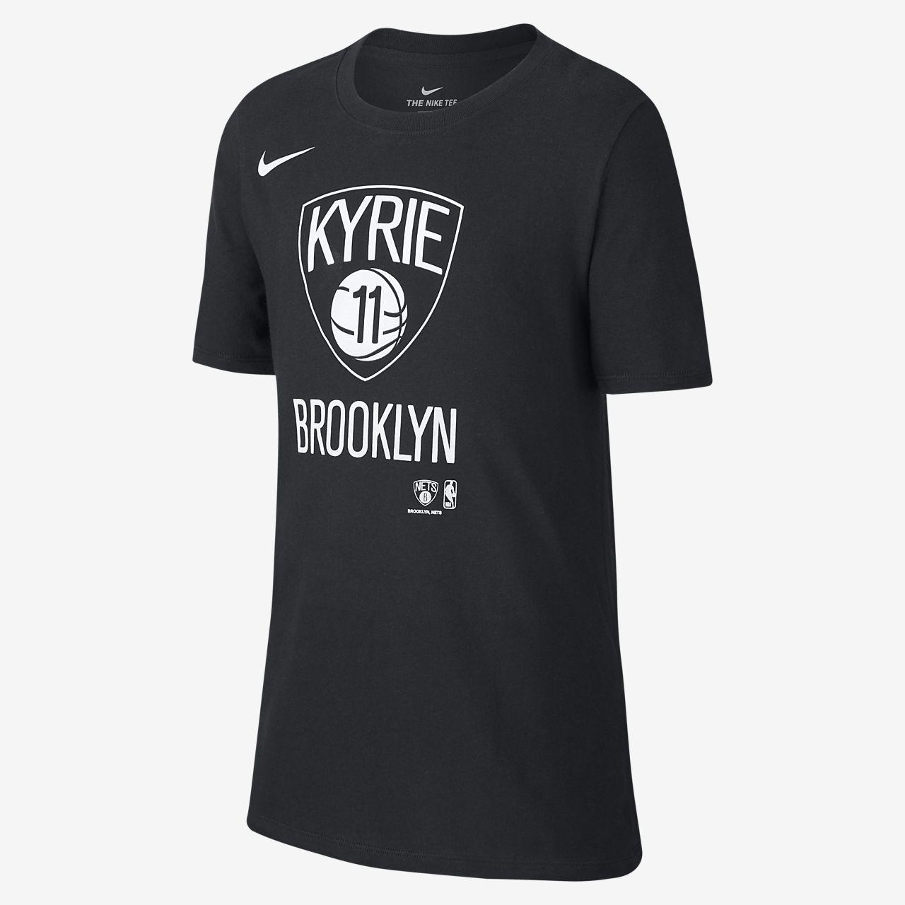Tee-shirt NBA Nike Dri-FIT Kyrie Irving Nets pour Enfant plus âgé
