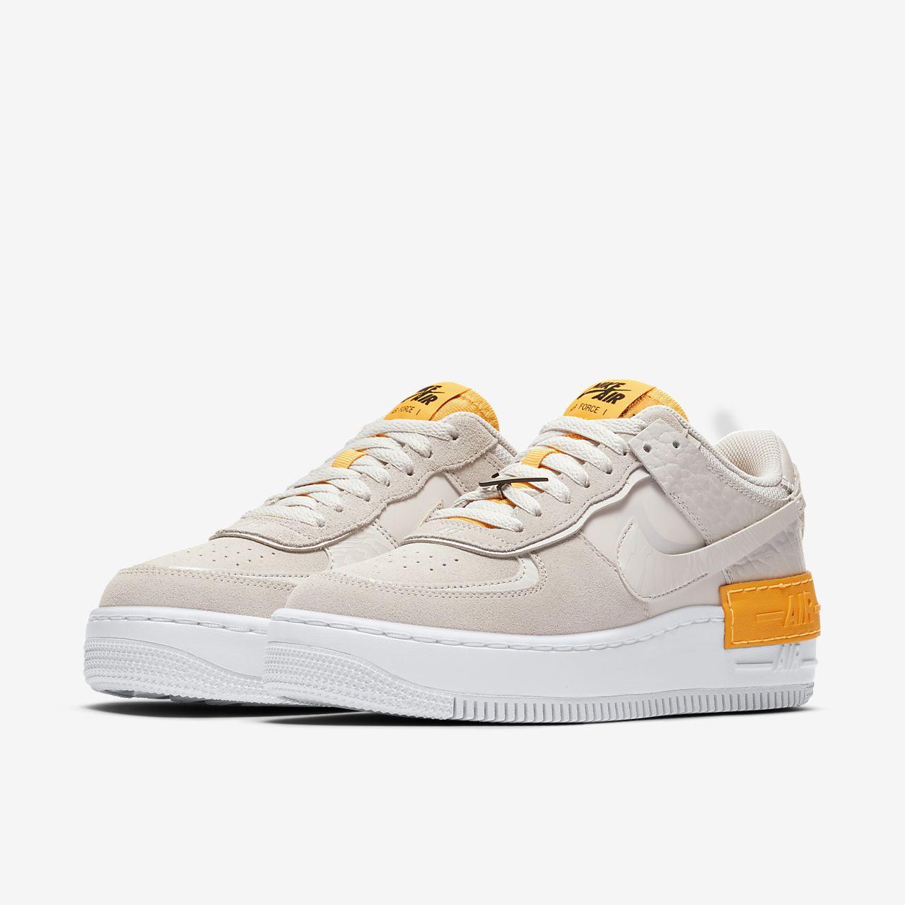 Nike Air Force 1 Shadow SE W shoes yellow orange white
