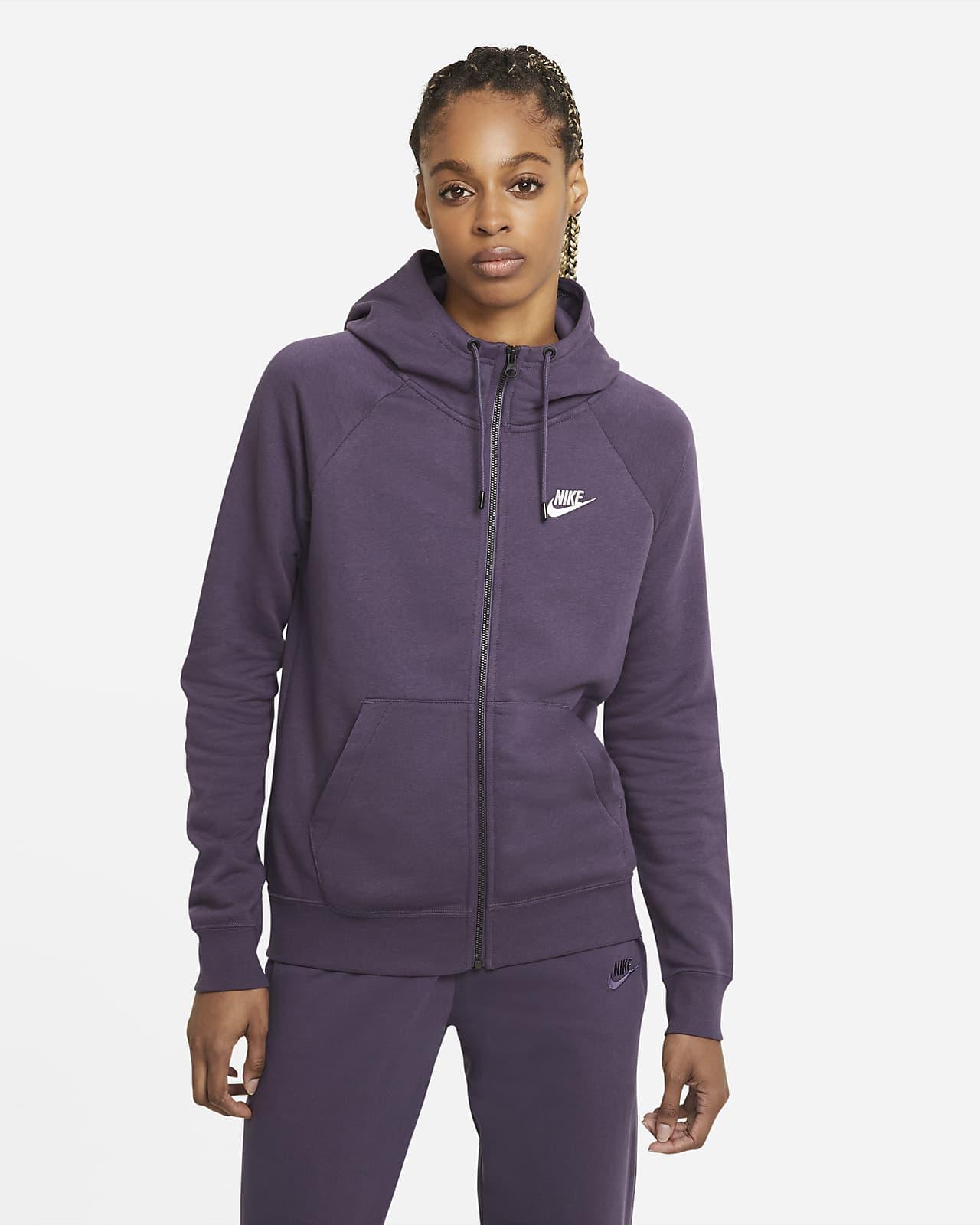 Dámská flísová mikina Nike Sportswear Essential s kapucí a zipem po celé délce
