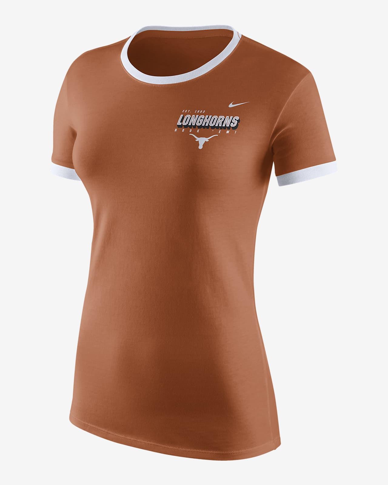 Playera con logotipo para mujer Nike College (Texas)