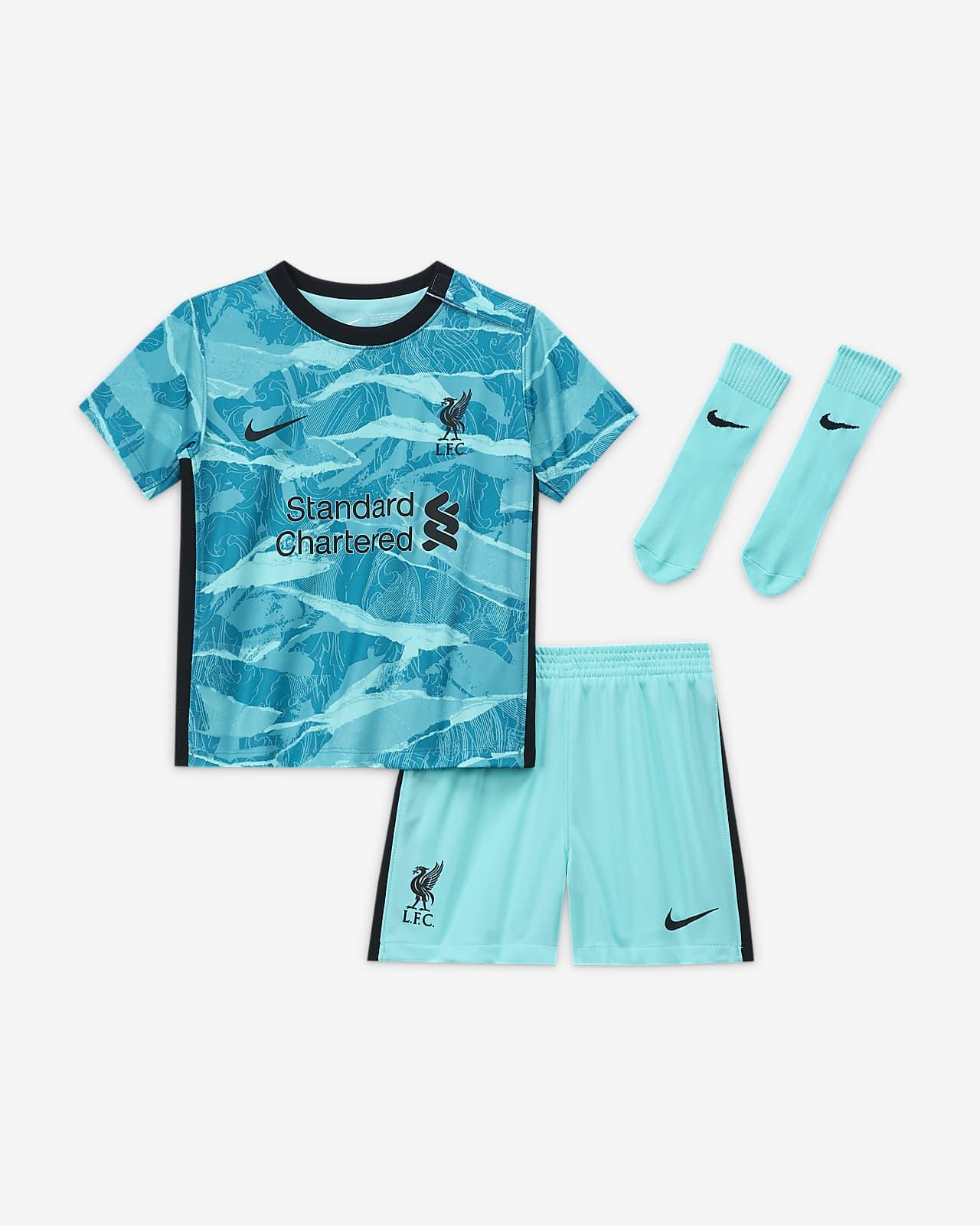 Liverpool FC 2020/21 (bortedrakt) fotballdraktsett til sped-/småbarn