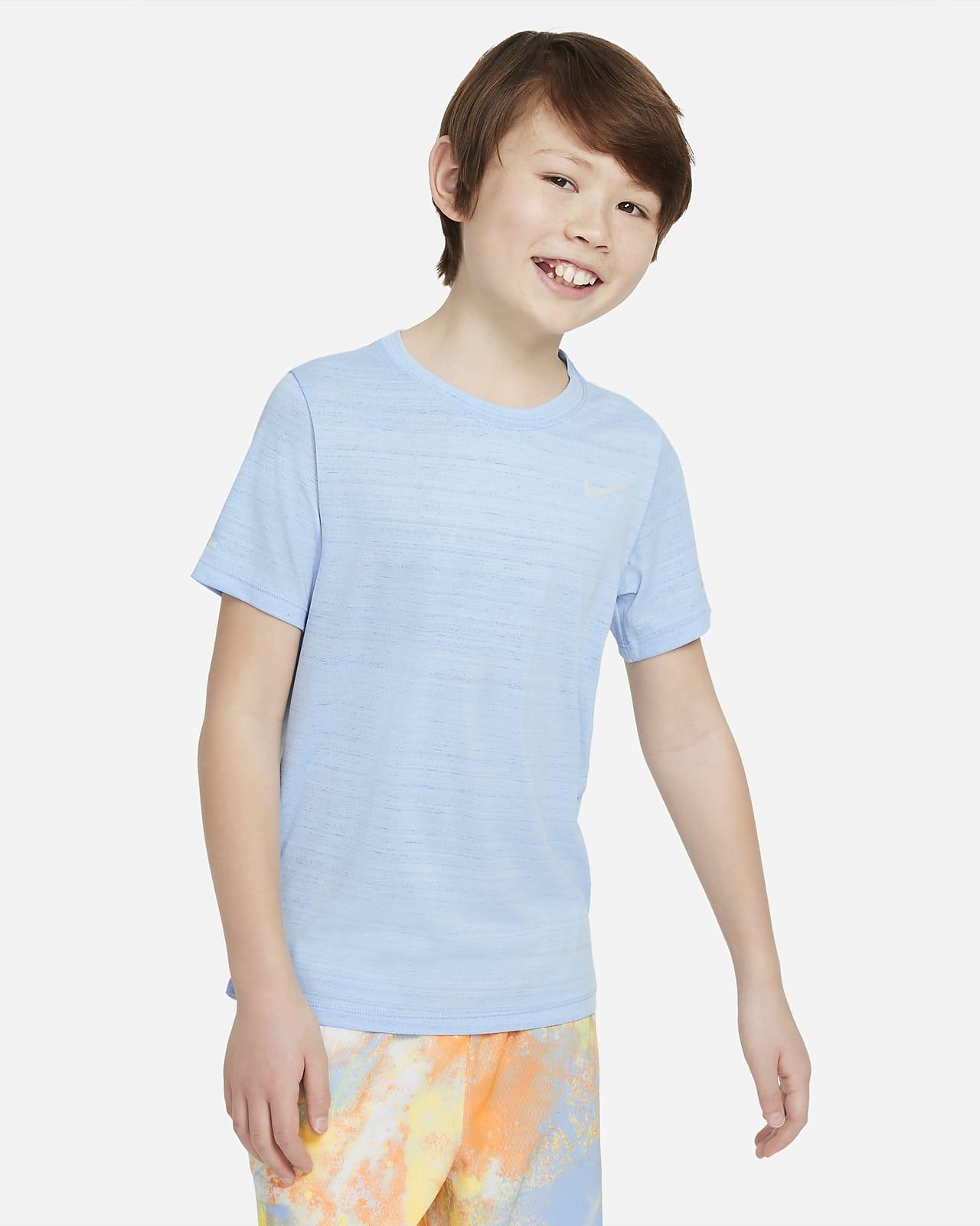 Nike Dri-FIT Miler-træningsoverdel til større børn (drenge)