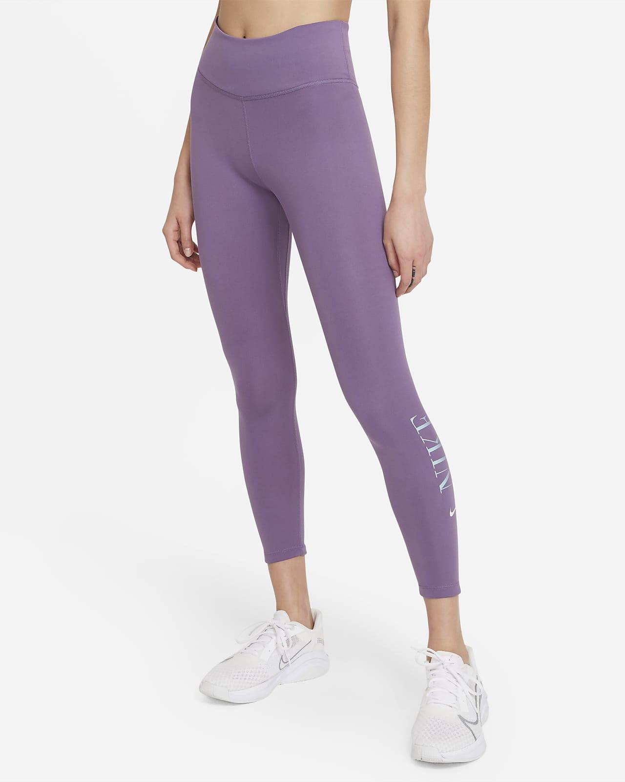 Nike Dri-FIT One 女款中腰九分圖樣內搭褲