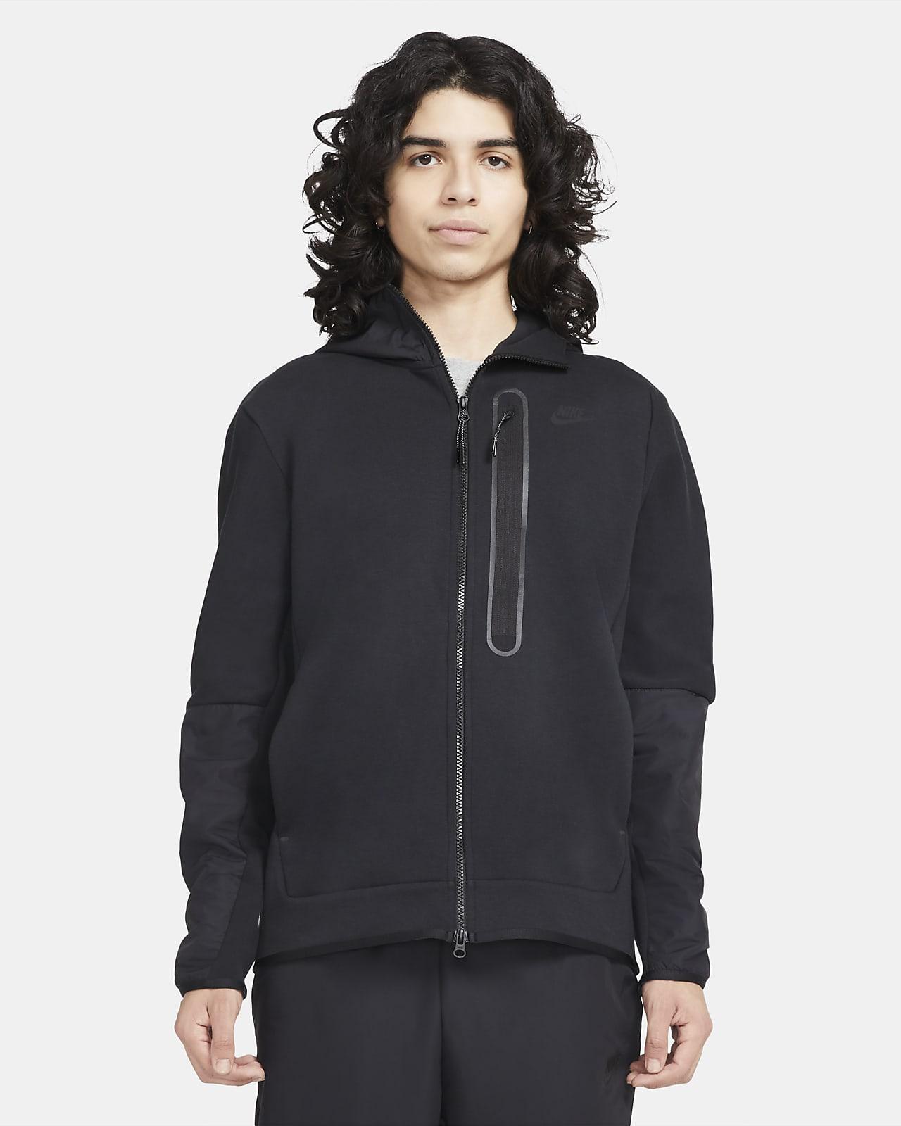 Vävd huvtröja med dragkedja i fullängd Nike Sportswear Tech Fleece för män