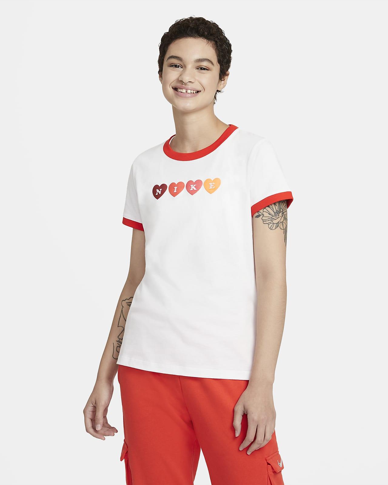 Nike Sportswear 女款滾邊 T 恤