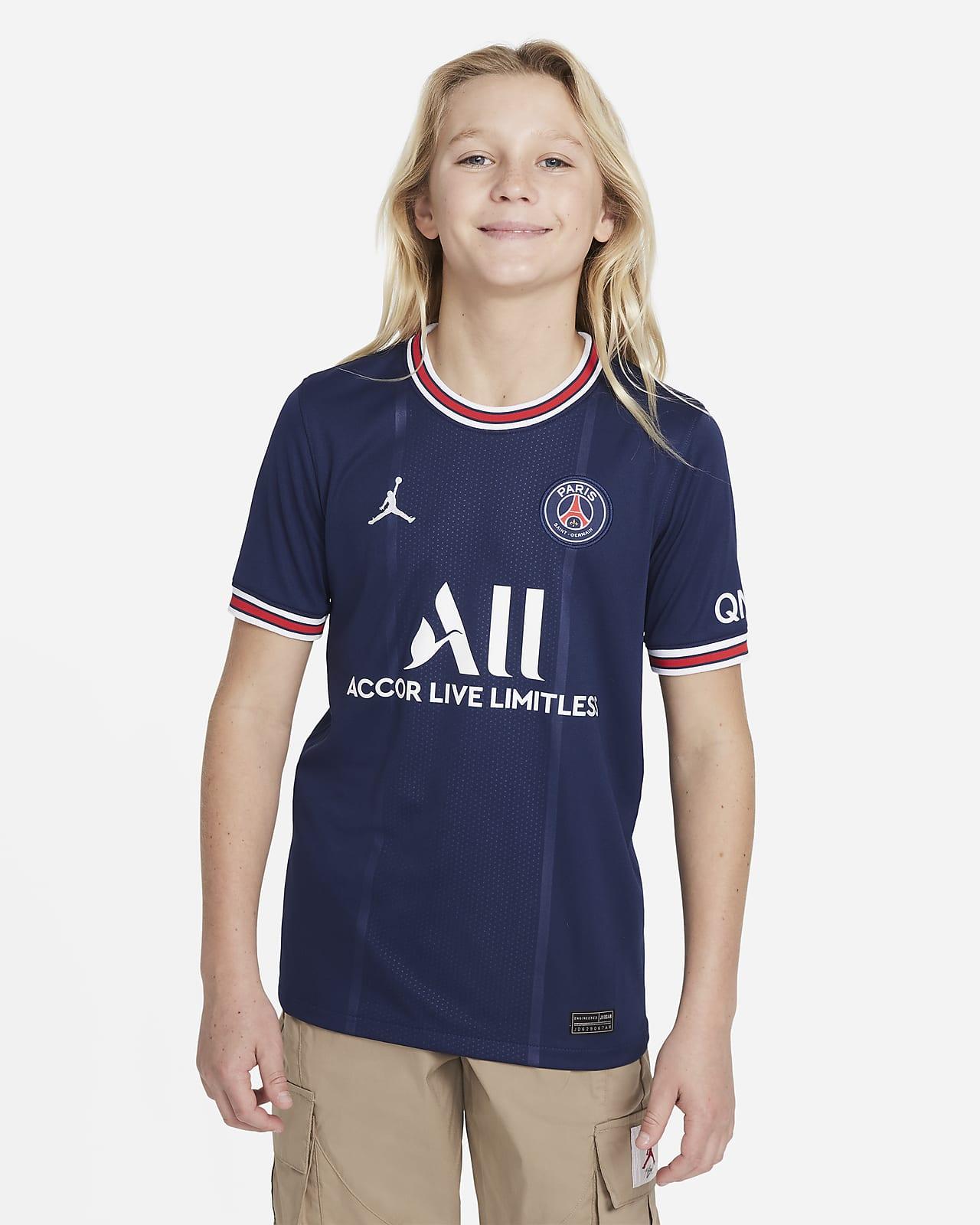 เสื้อแข่งฟุตบอลเด็กโต Paris Saint-Germain 2021/22 Stadium Home
