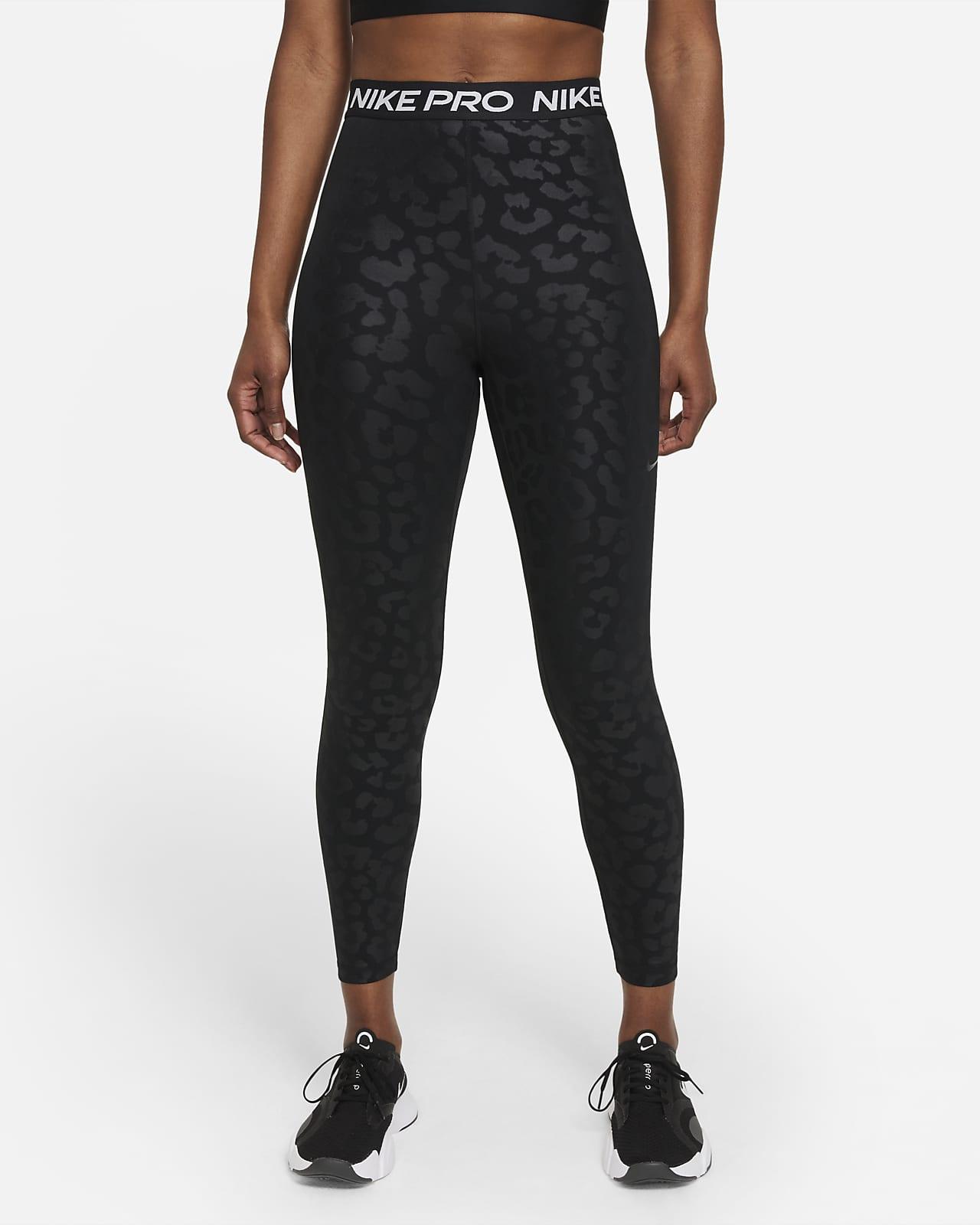 Nike Pro Dri-FIT 7/8-Leggings mit hohem Bund und Print für Damen
