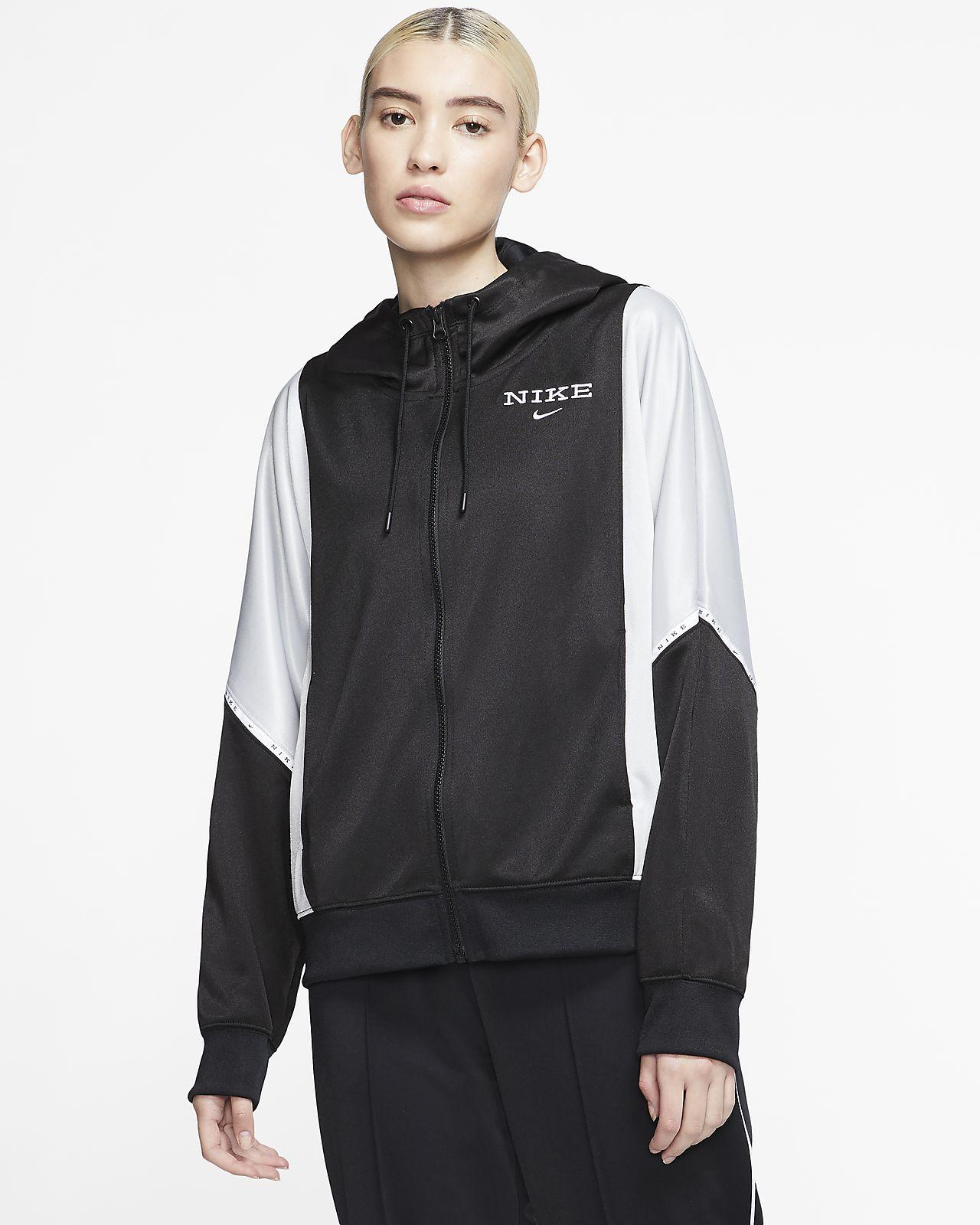 Nike Sportswear 女子全长拉链开襟连帽夹克