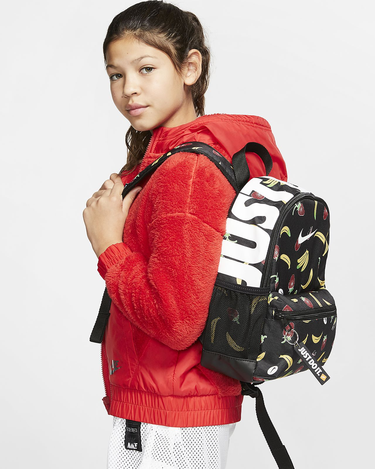 Nike Brasilia JDI Kinderrucksack mit Print (Mini)