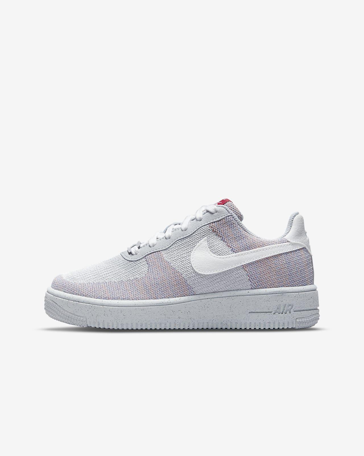Calzado para niños talla grande Nike Air Force 1 Crater Flyknit