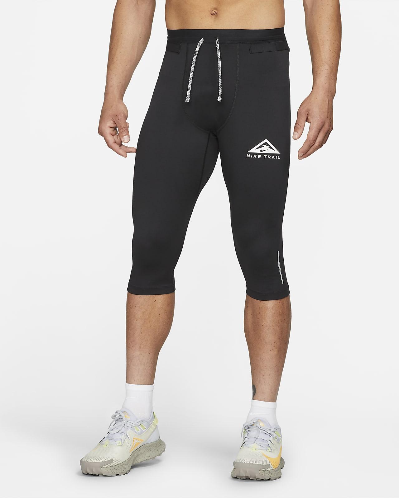 Pánské tříčtvrteční legíny Nike Dri-FIT na terénní běh