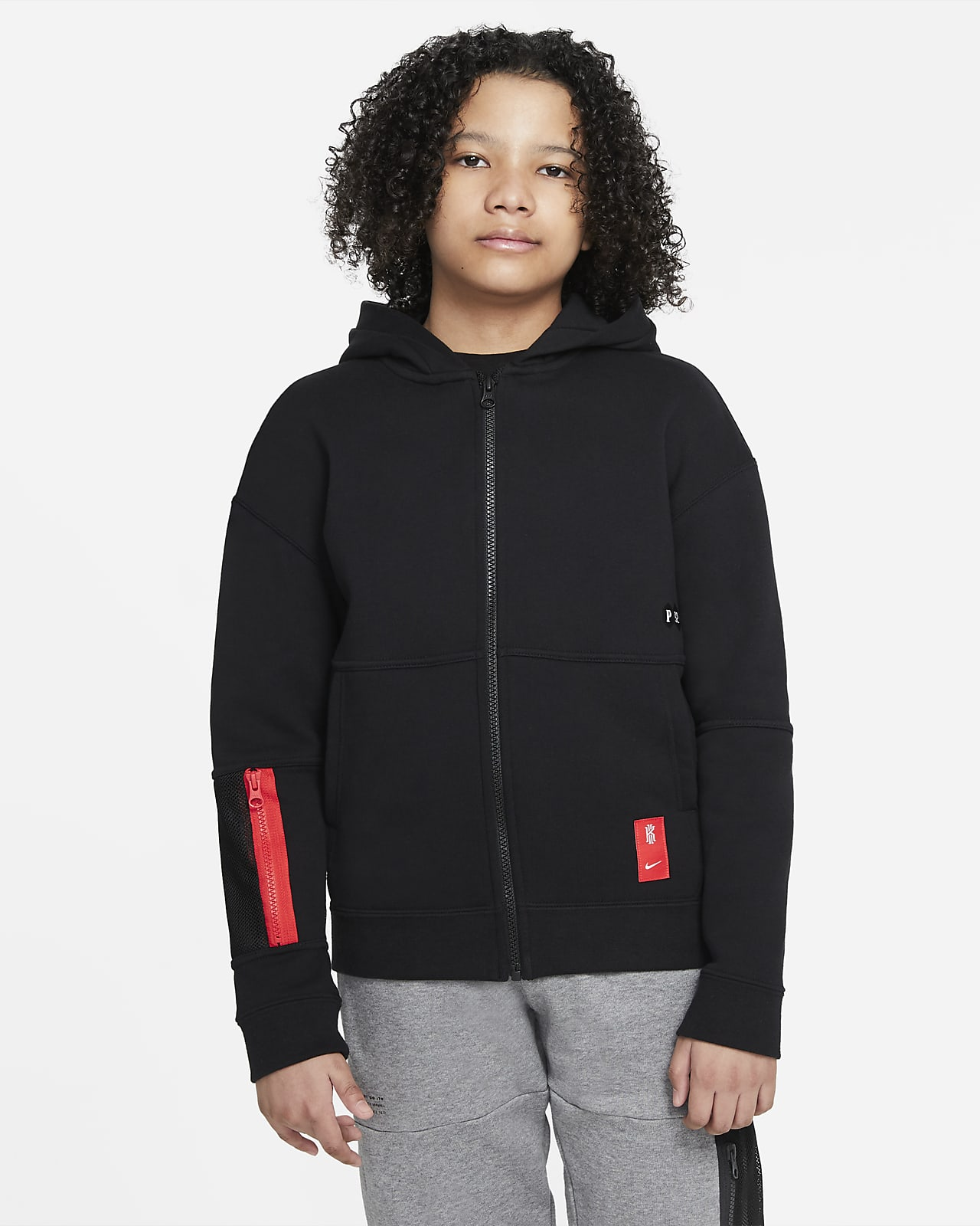 Kyrie Big Kids' (Boys') Full-Zip Hoodie