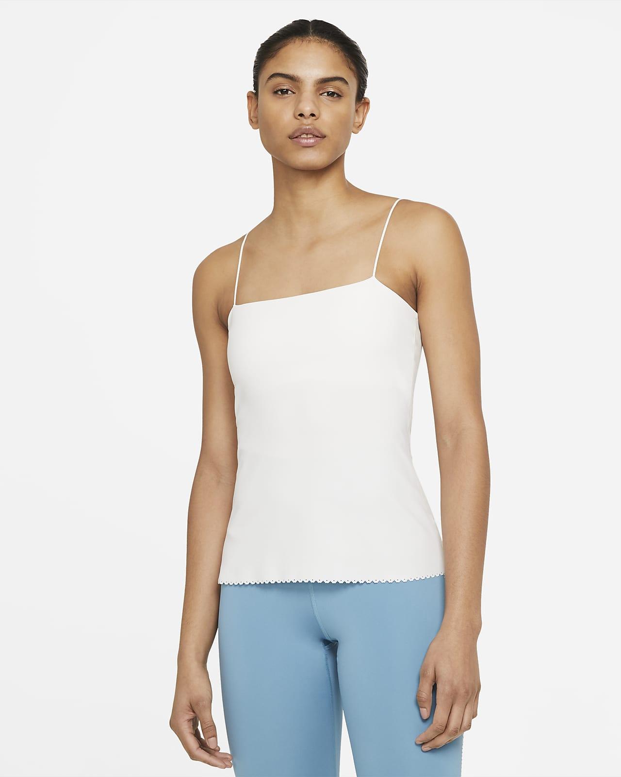 Camiseta de tirantes con bra para mujer Nike Yoga Luxe Eyelet