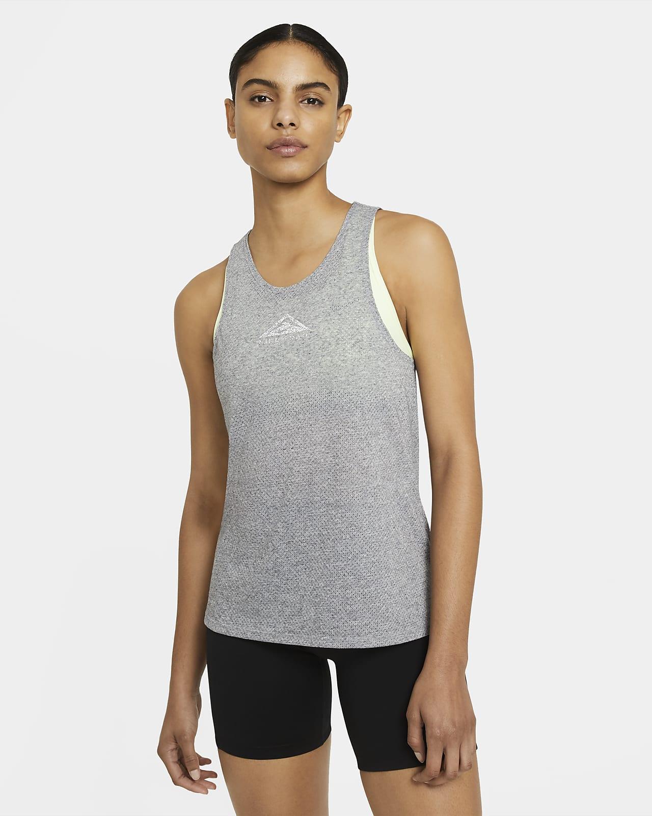 Camiseta de tirantes de running para trail para mujer Nike City Sleek