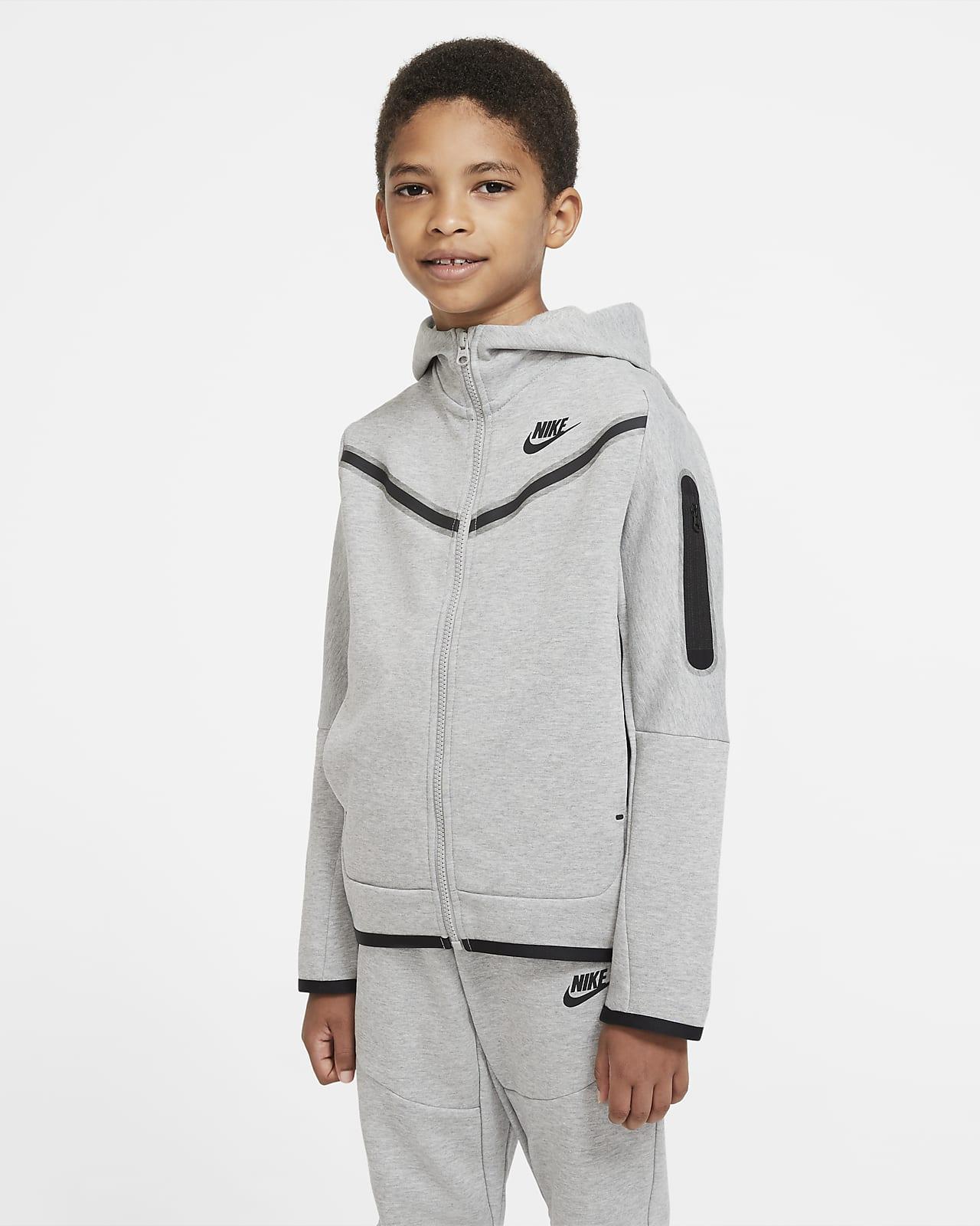Sudadera con capucha de cierre completo para niño talla grande Nike Sportswear Tech Fleece