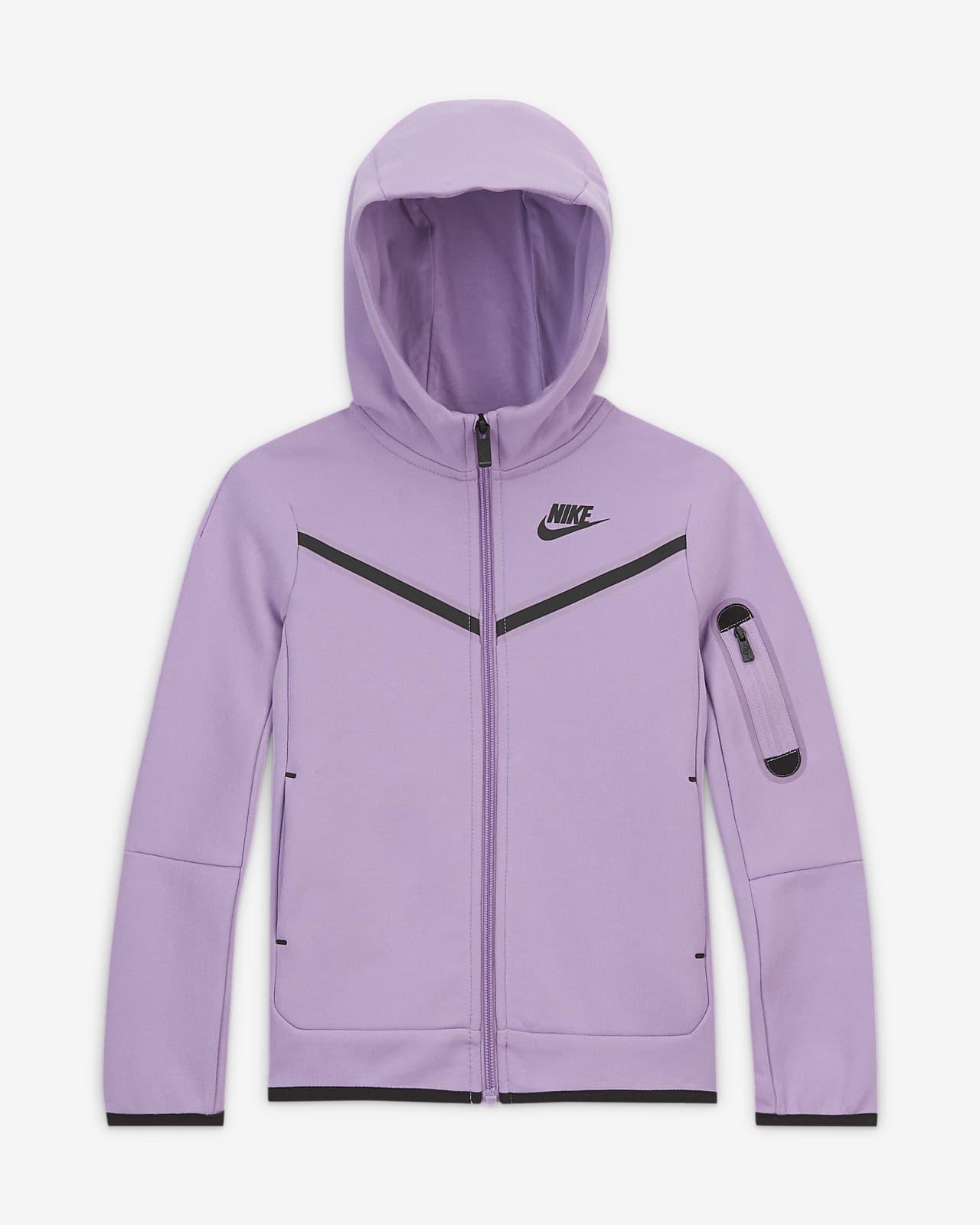 Sudadera con capucha de cierre completo para niños talla pequeña Nike Sportswear Tech Fleece