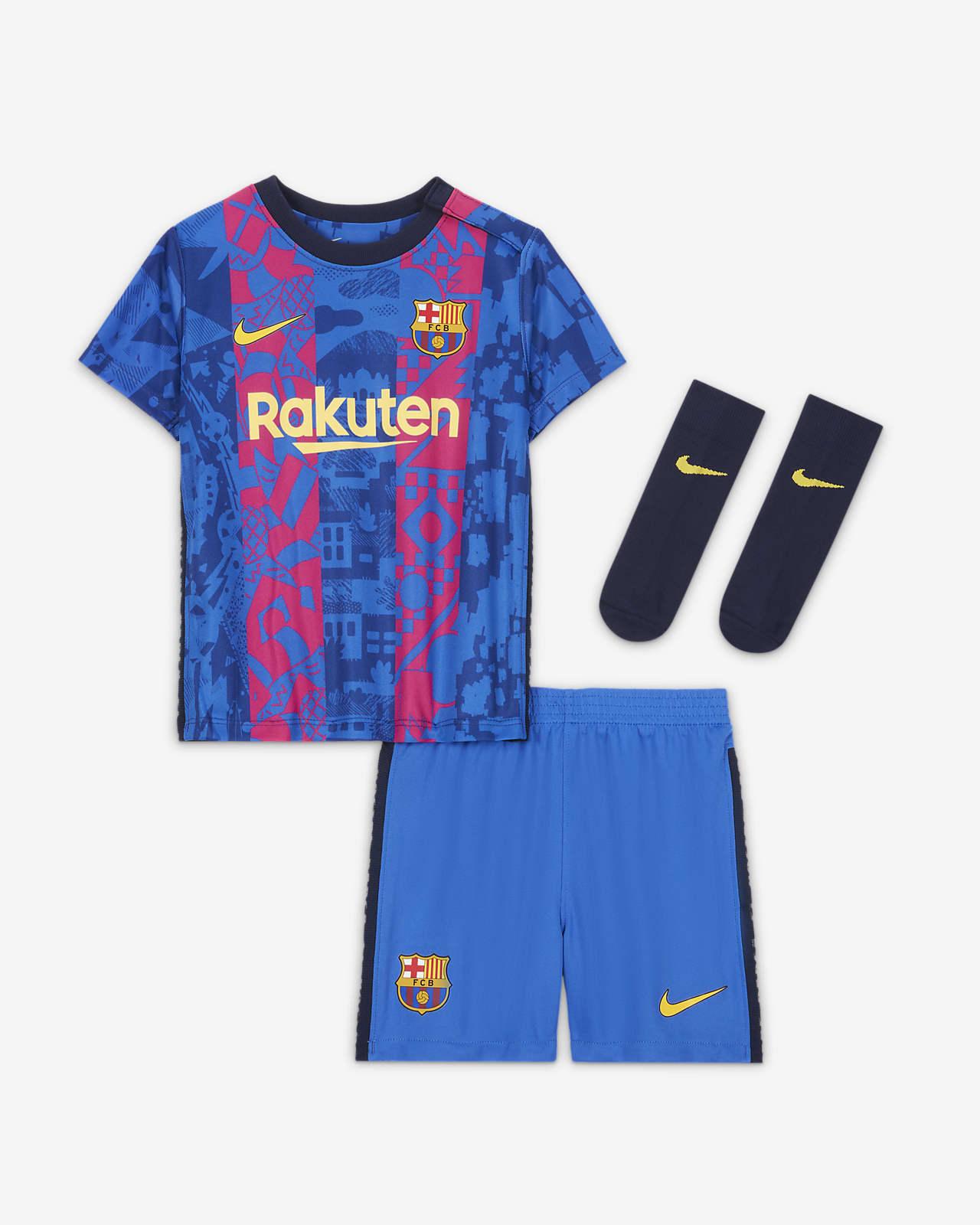 Divisa FC Barcelona 2021/22 per neonati/bimbi piccoli - Terza