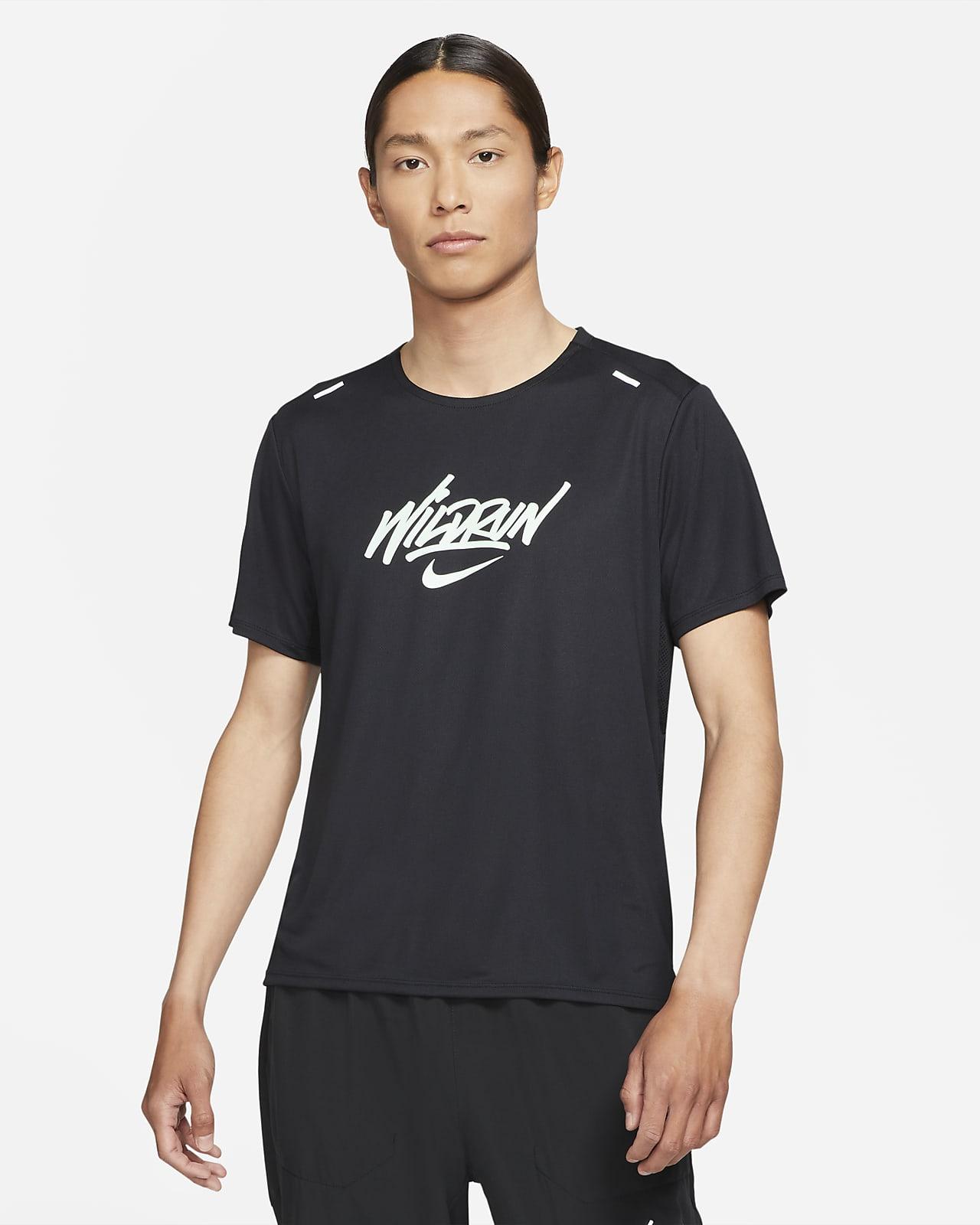 เสื้อวิ่งแขนสั้นผู้ชาย Nike Rise 365 Wild Run
