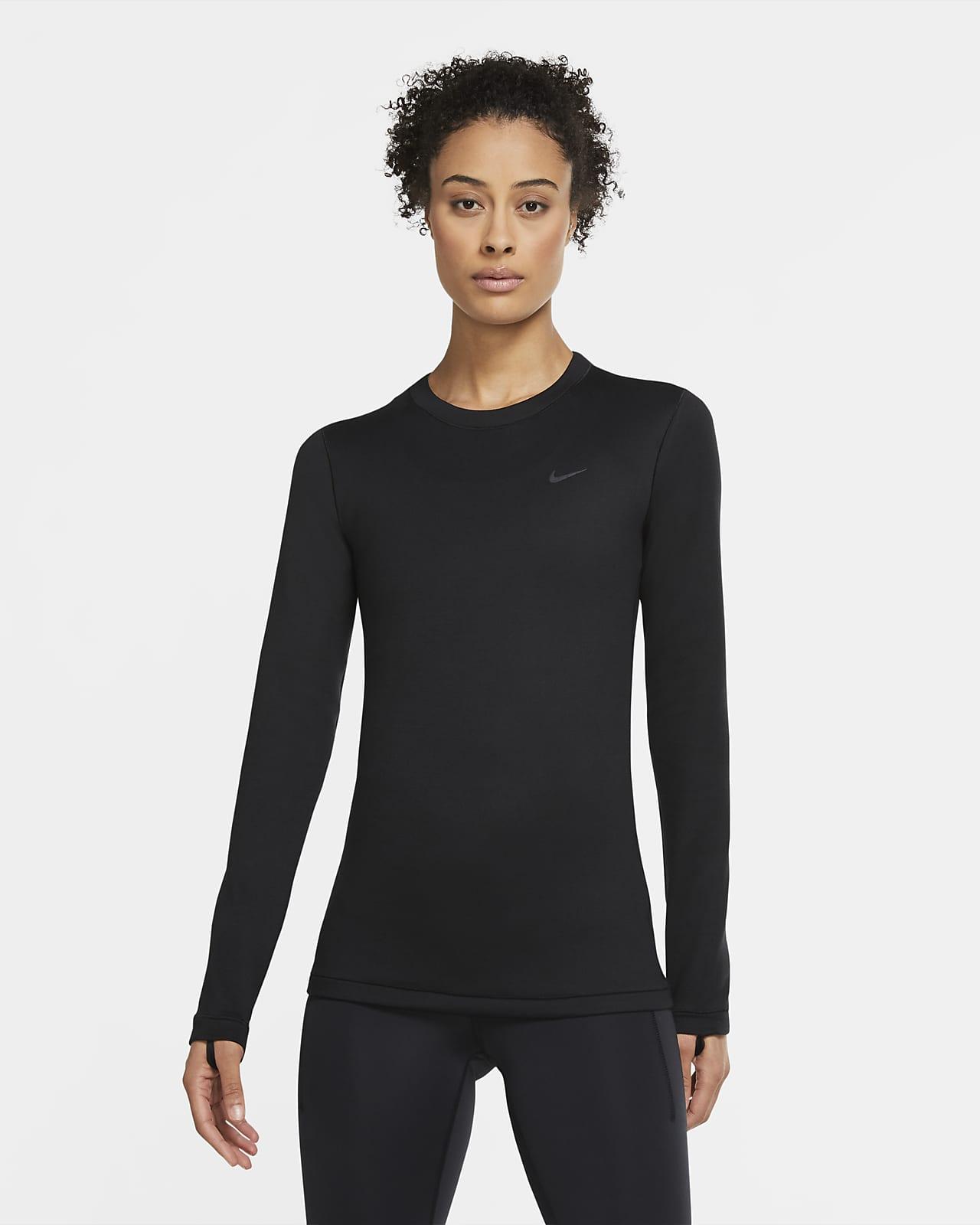 Sudadera de cuello redondo para mujer Nike Pro Therma