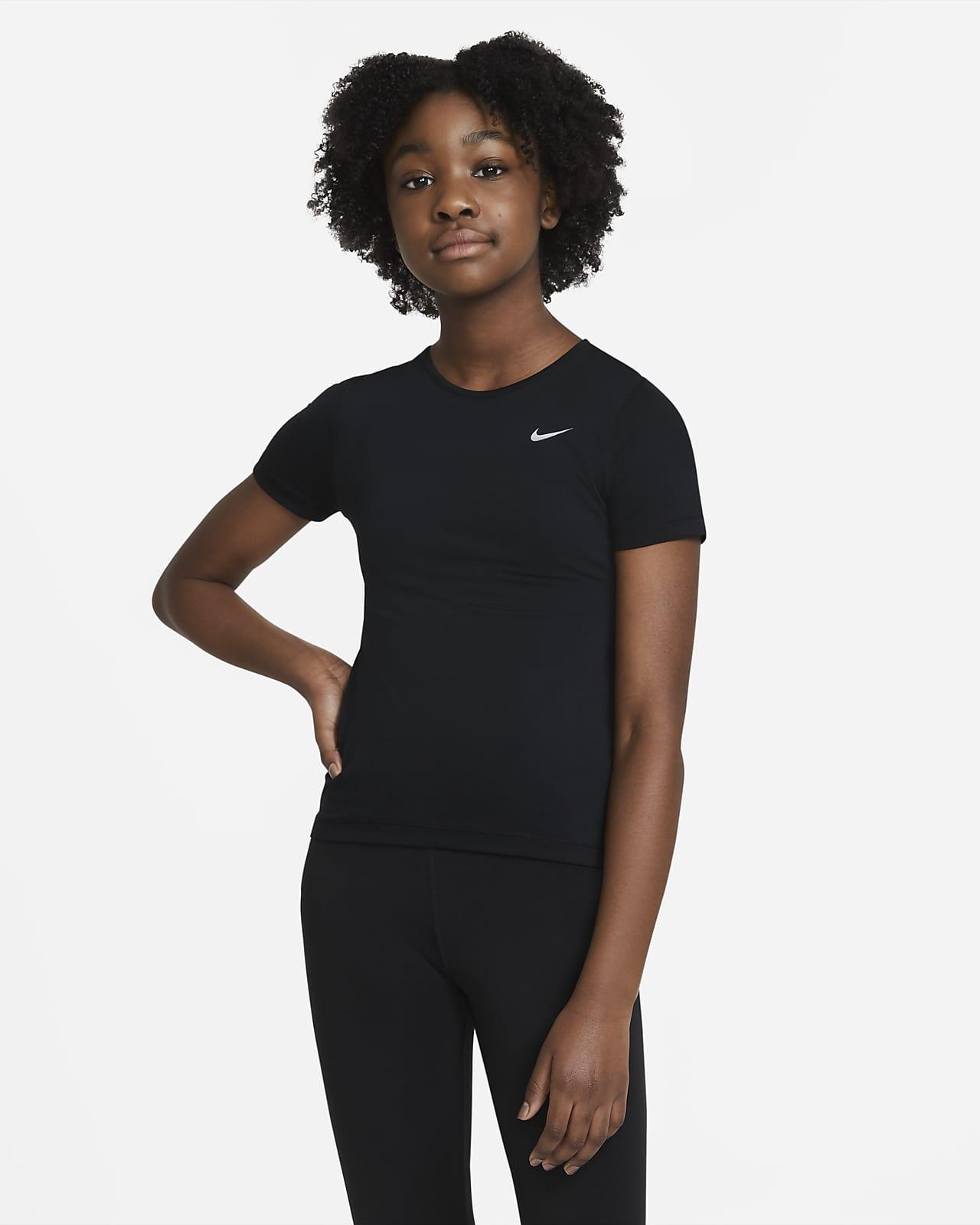 Top Nike Pro s krátkým rukávem pro větší děti (dívky)